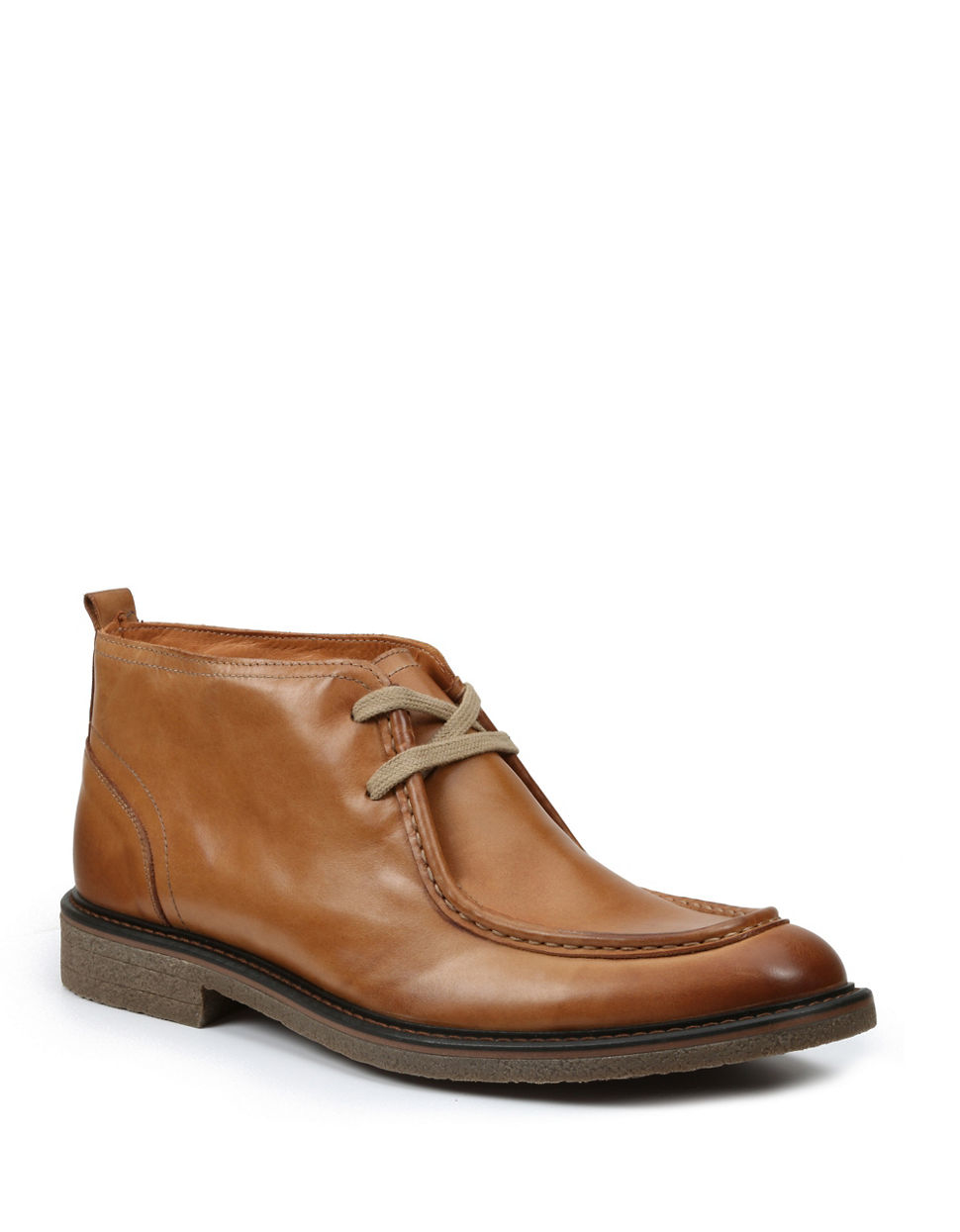 gbx brisco leather chukka boots in brown for lyst