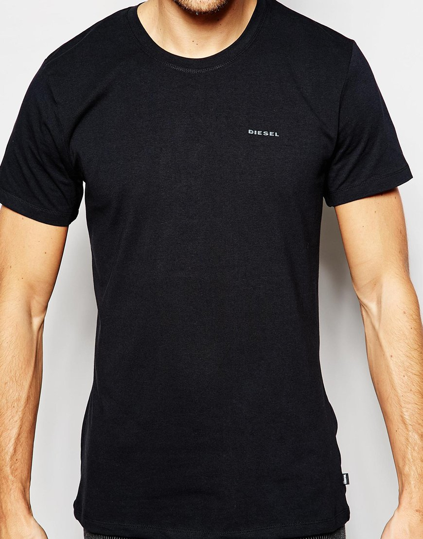 3c01ae0fb886 Lyst - DIESEL 3 Pack Slim Fit T-shirt Crew Neck in Black for Men