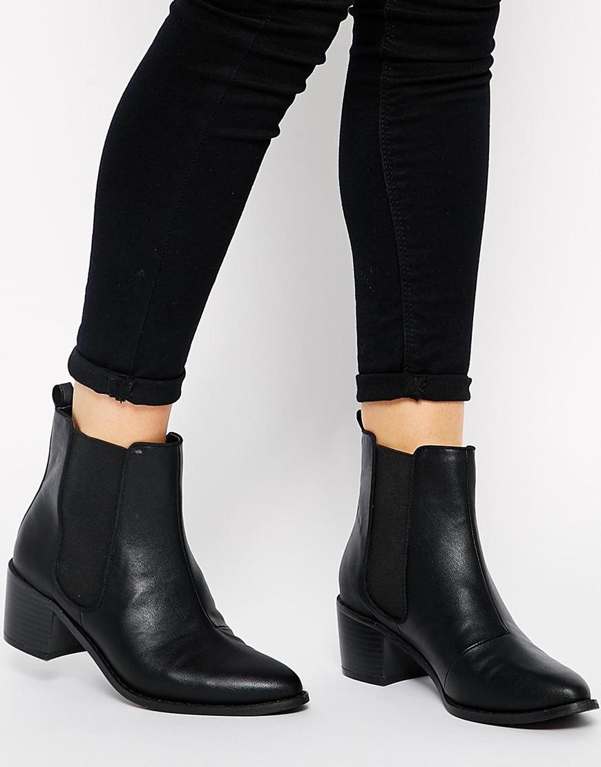 a990cf837e8 ASOS Black Roar Chelsea Ankle Boots