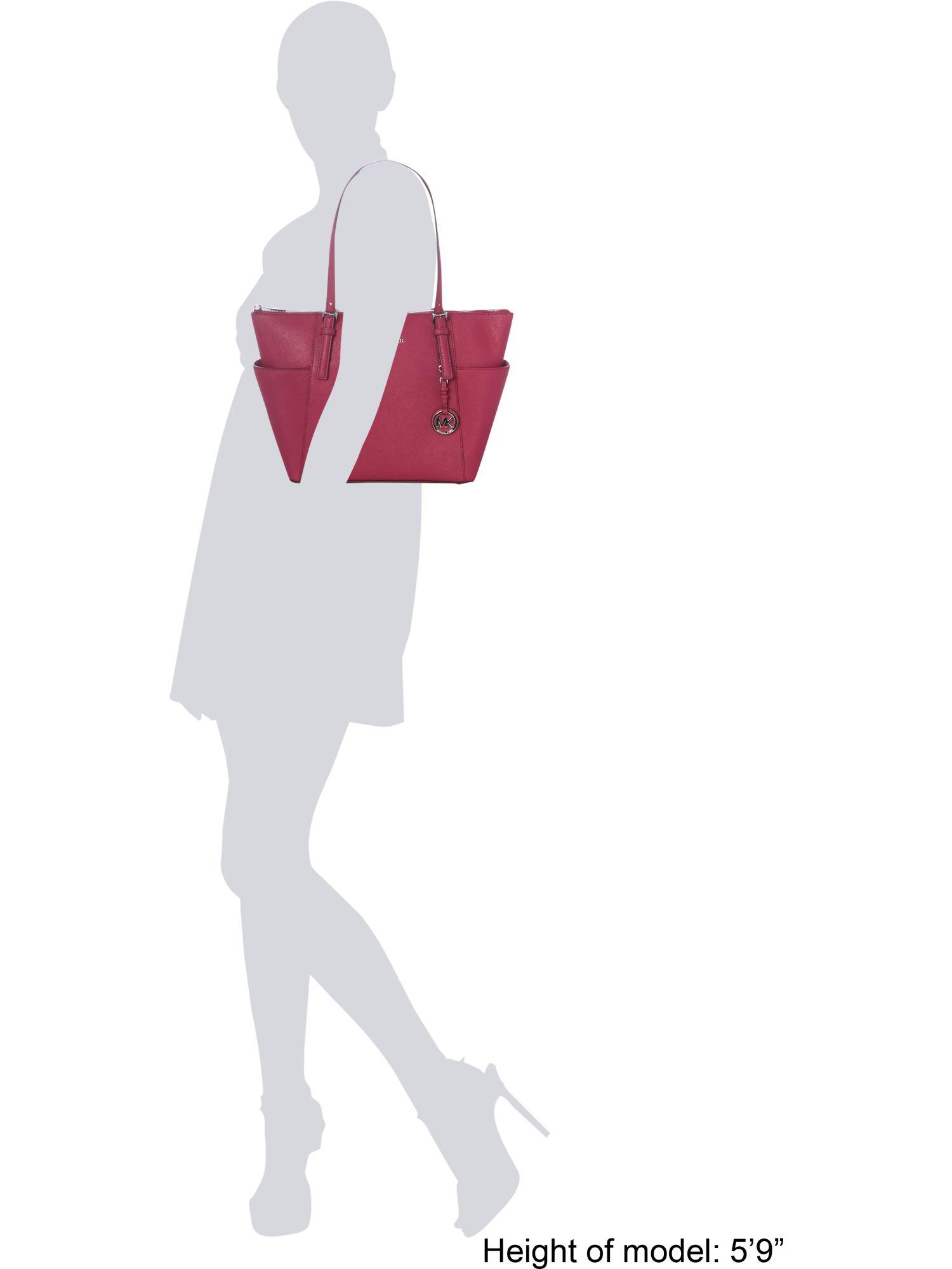 Michael Kors Jet Set Item Pink Zip Top Tote Bag