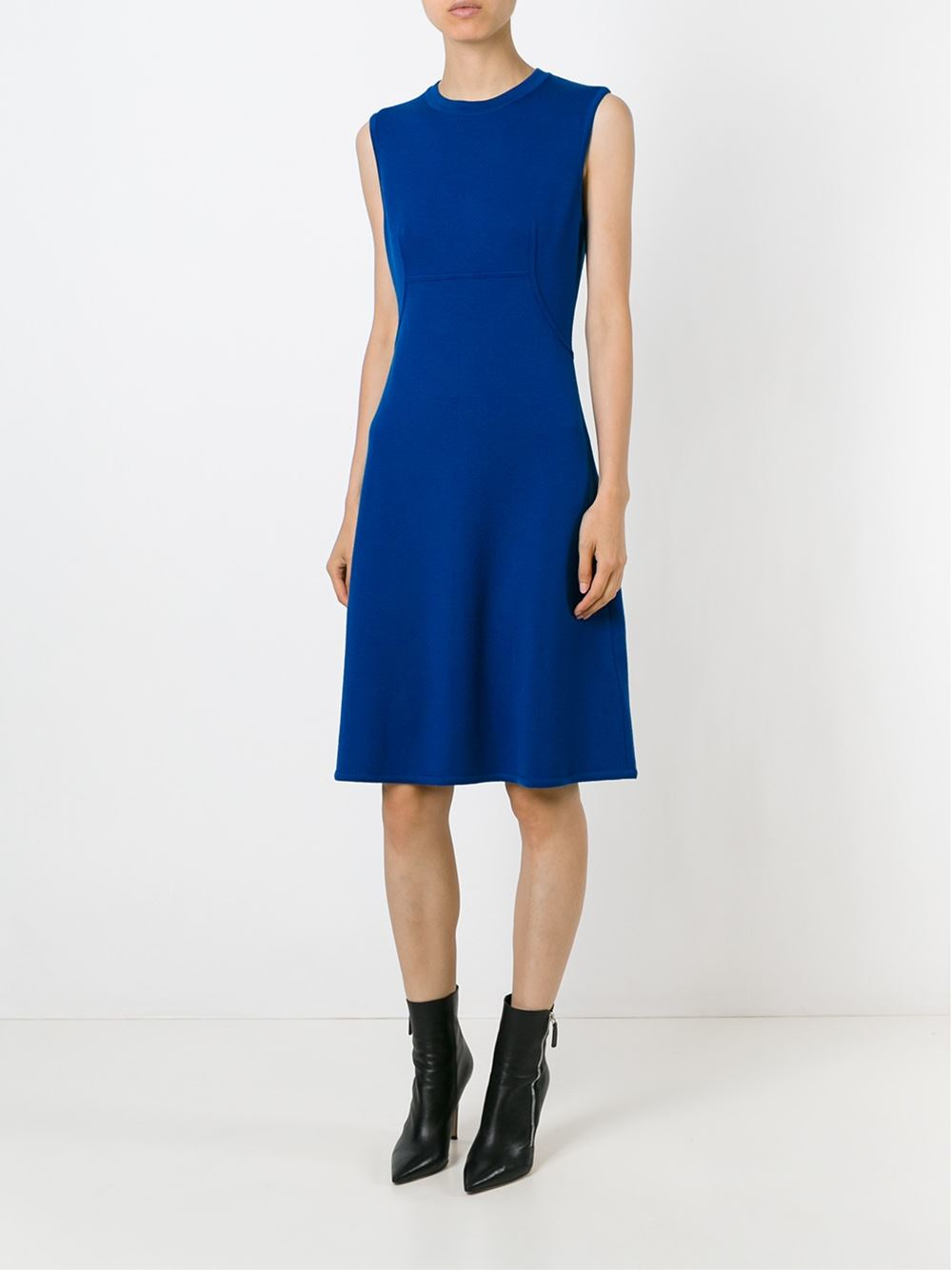Ermanno Scervino Sleeveless Knit Dress In Blue Lyst