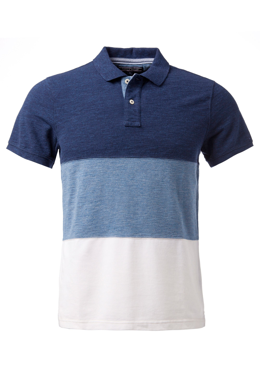 tommy hilfiger bessy stripe slim fit polo shirt in blue. Black Bedroom Furniture Sets. Home Design Ideas