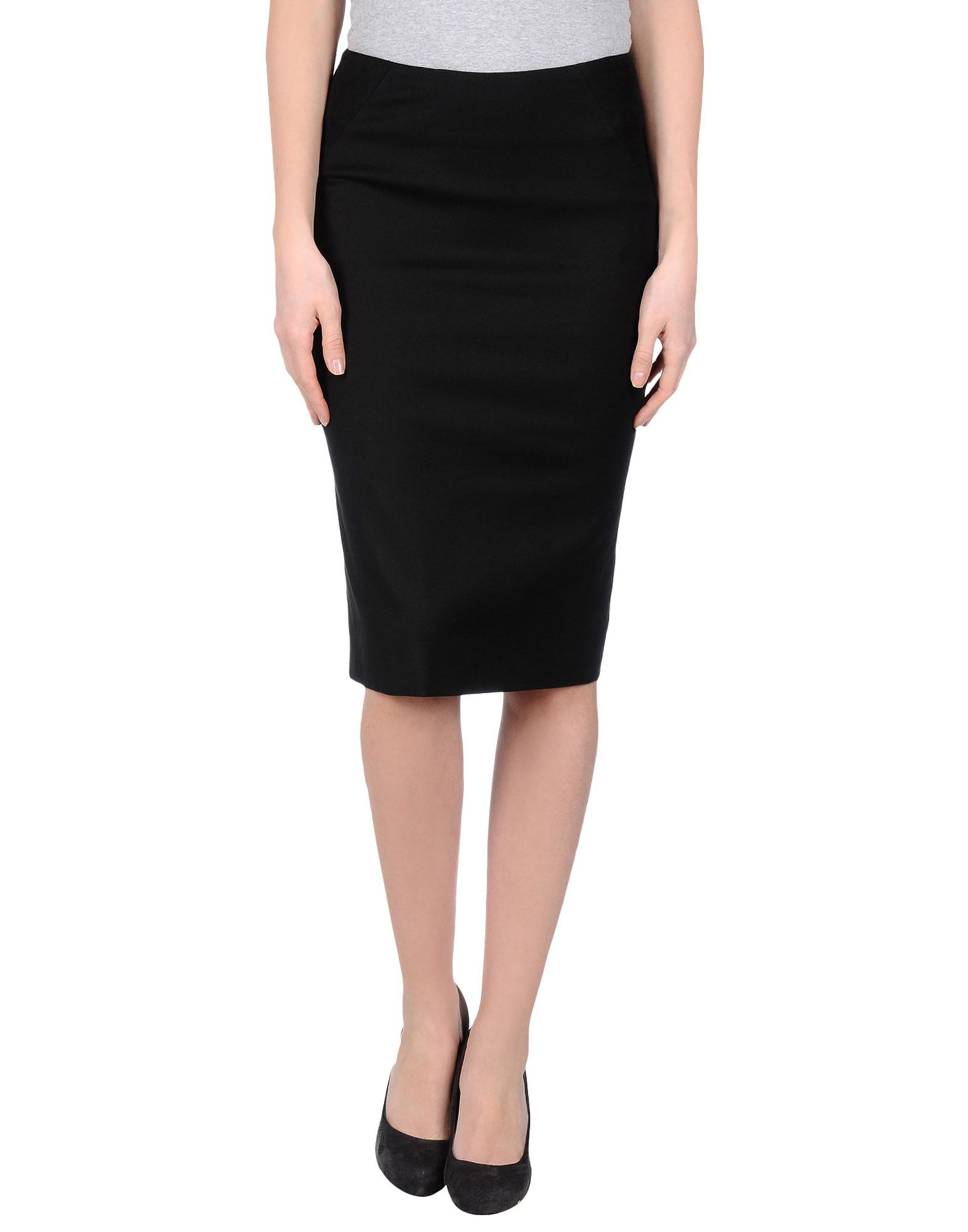 Innovative Darling Knee Length Skirt In Black  Lyst