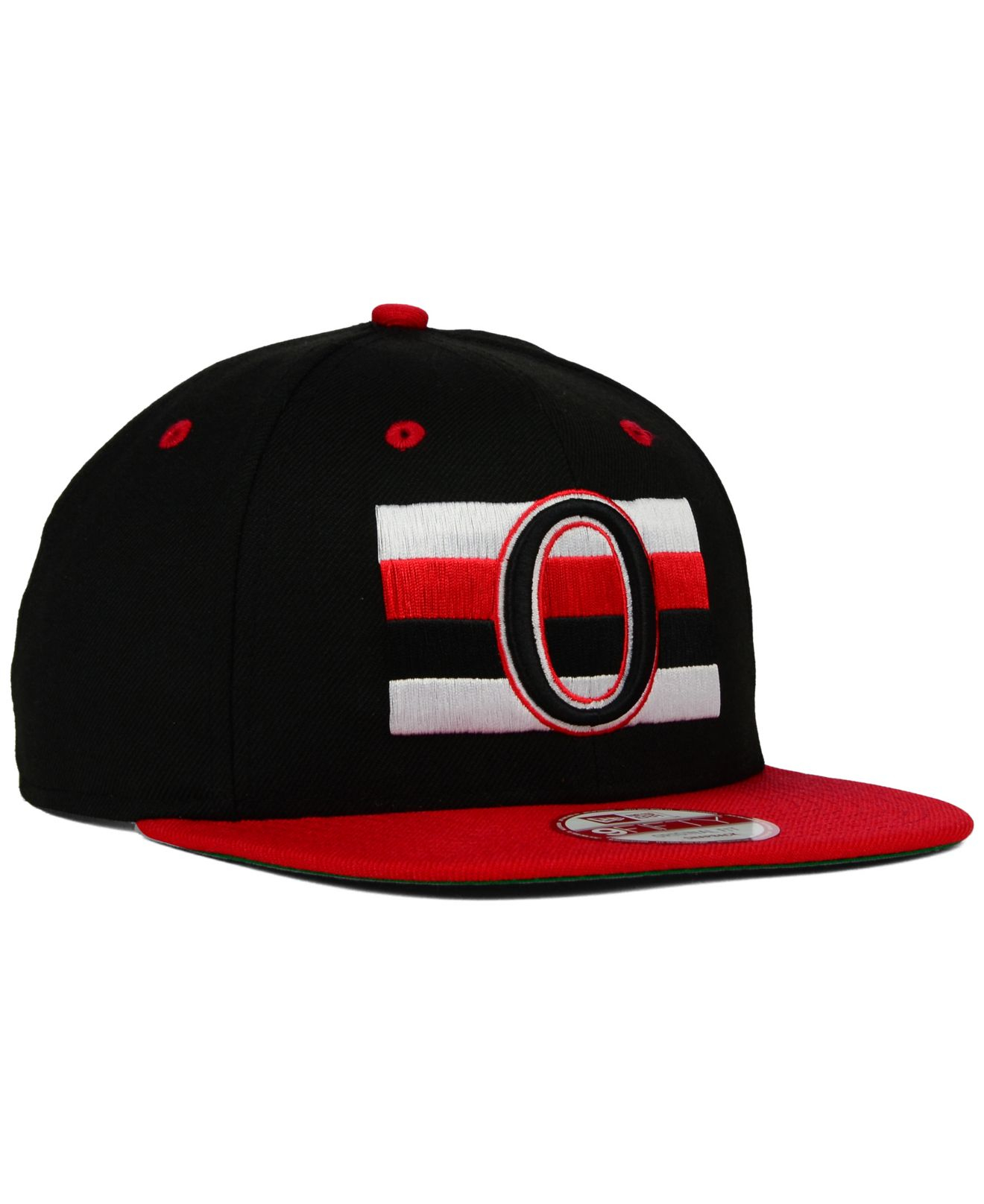 finest selection 3bb71 a5e60 KTZ Ottawa Senators Vintage 2-tone 9fifty Snapback Cap in Black for ...