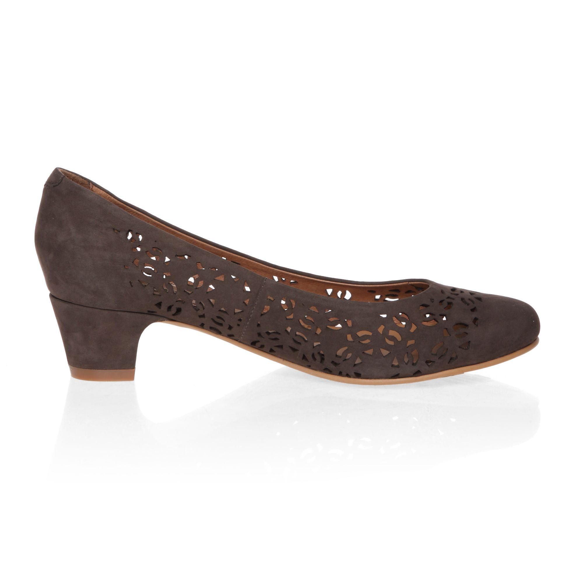 Mid Heel Dark Grey Sandals And Shoes
