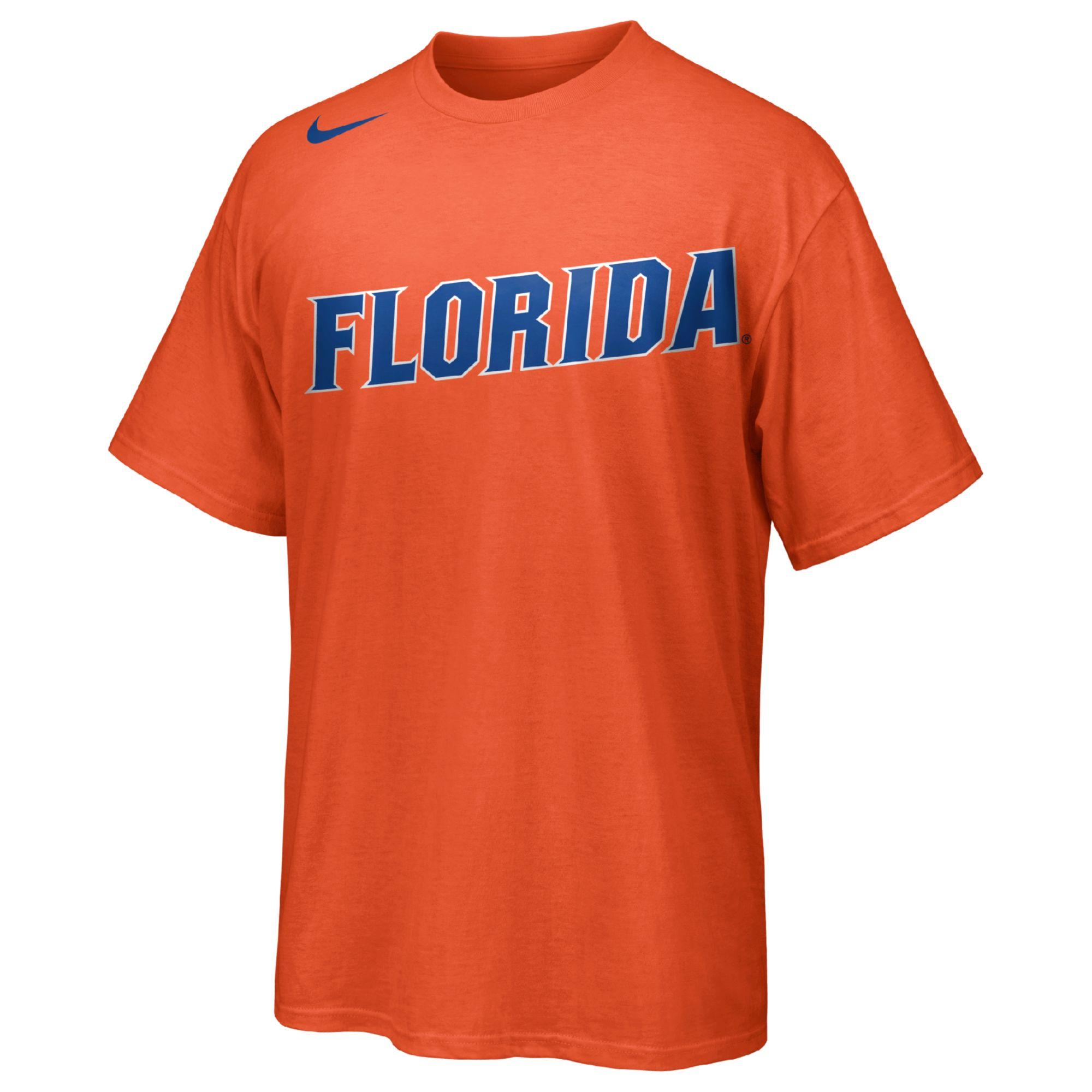 Nike Mens Shortsleeve Florida Gators Ncaa Tshirt In Orange
