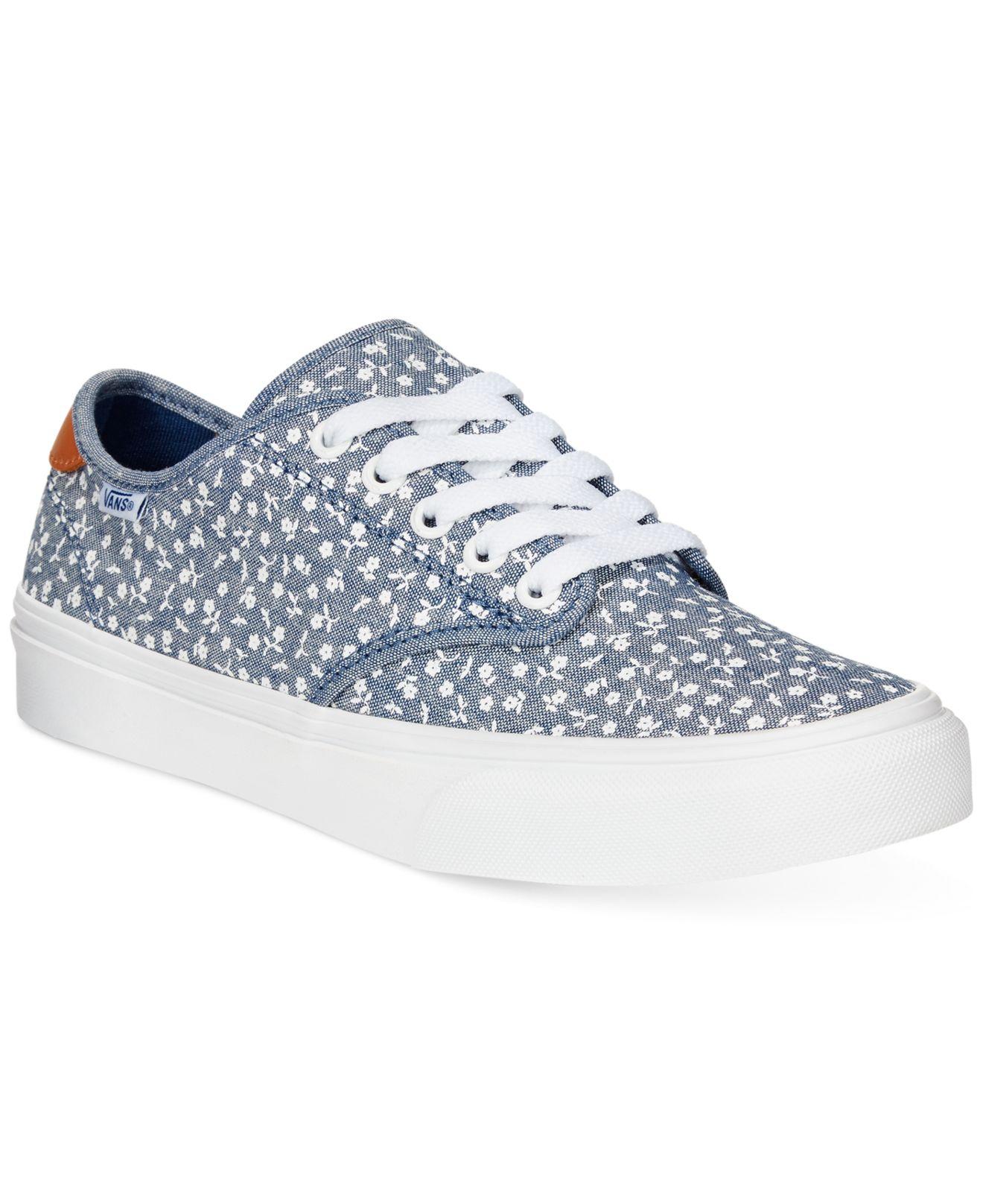 c517cae6513 Lyst - Vans Women s Camden Lace-up Sneakers in Blue