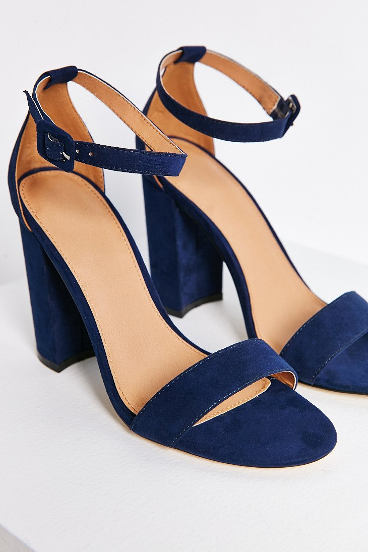 Urban outfitters Thin Ankle Strap Heel in Blue | Lyst