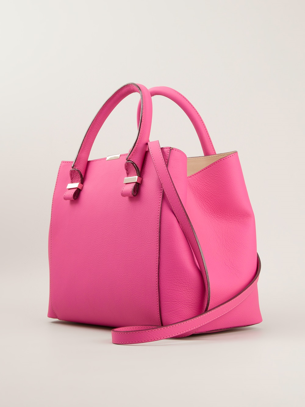 Victoria Beckham Quincy Tote Bag In Pink Amp Purple Pink