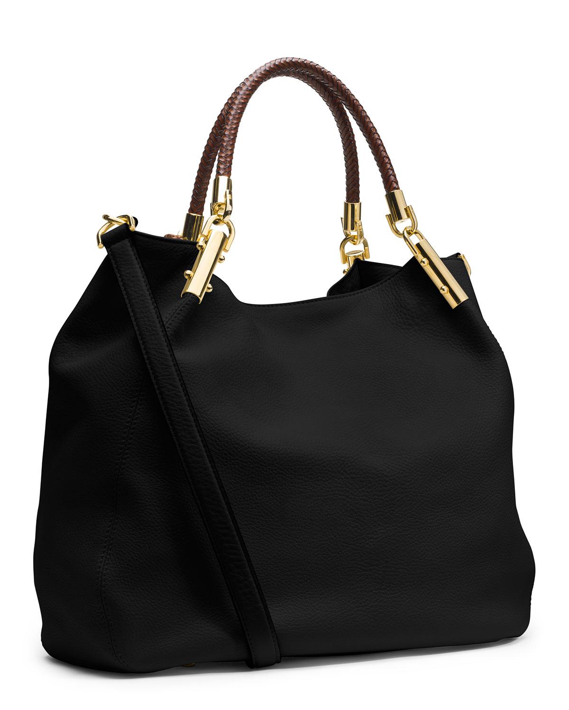 5b9eed5b5e94 Michael Kors Skorpios Large Shoulder Bag Black Leather   Stanford ...