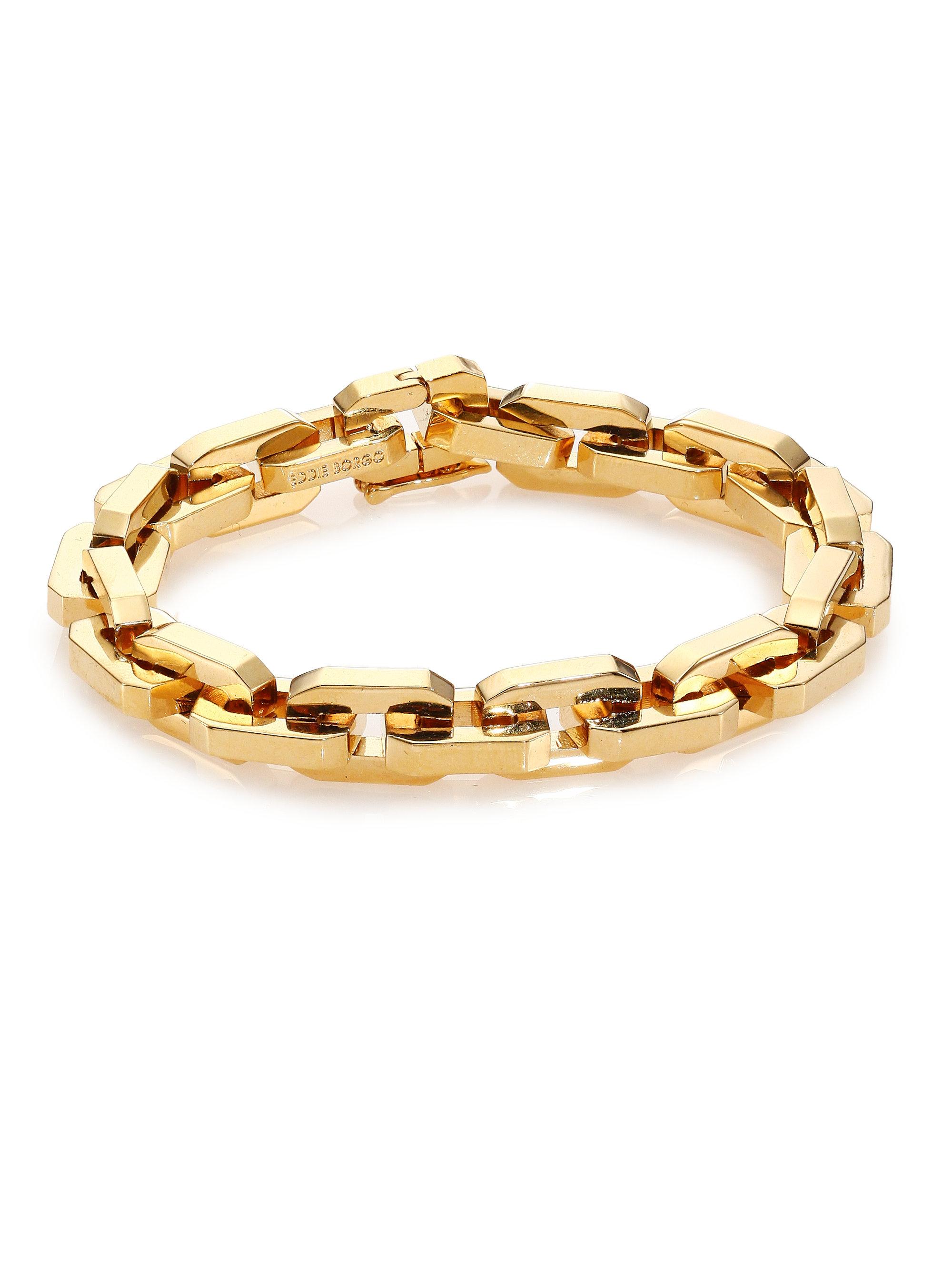 Eddie Borgo Golden cylindrical-link bracelet NI0yb5P