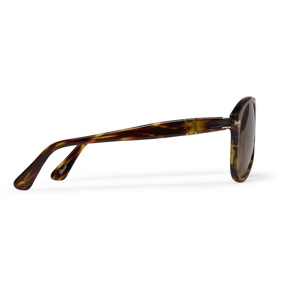 Persol D-Frame Polarised Sunglasses in Brown for Men