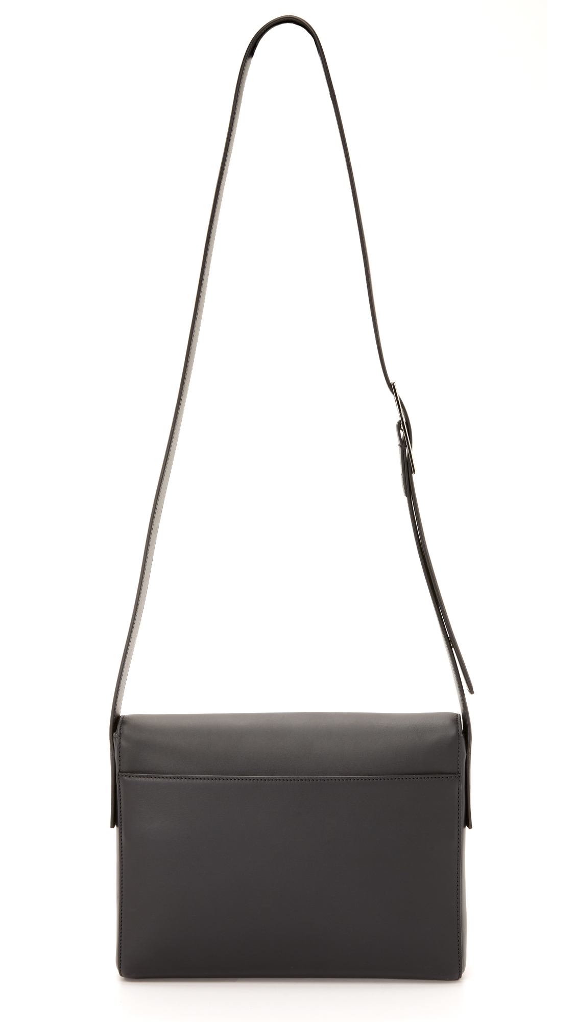 Vince Medium Cross Body Bag in Black