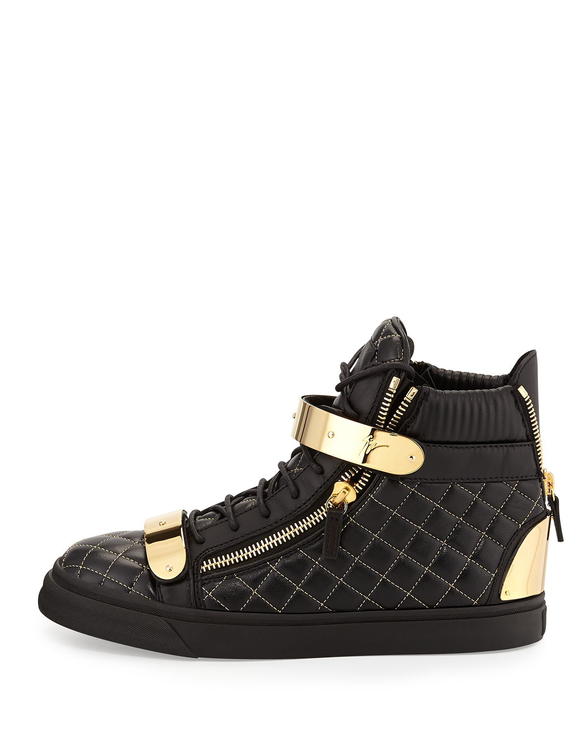 Lyst Giuseppe Zanotti Men S Quilted Leather High Top