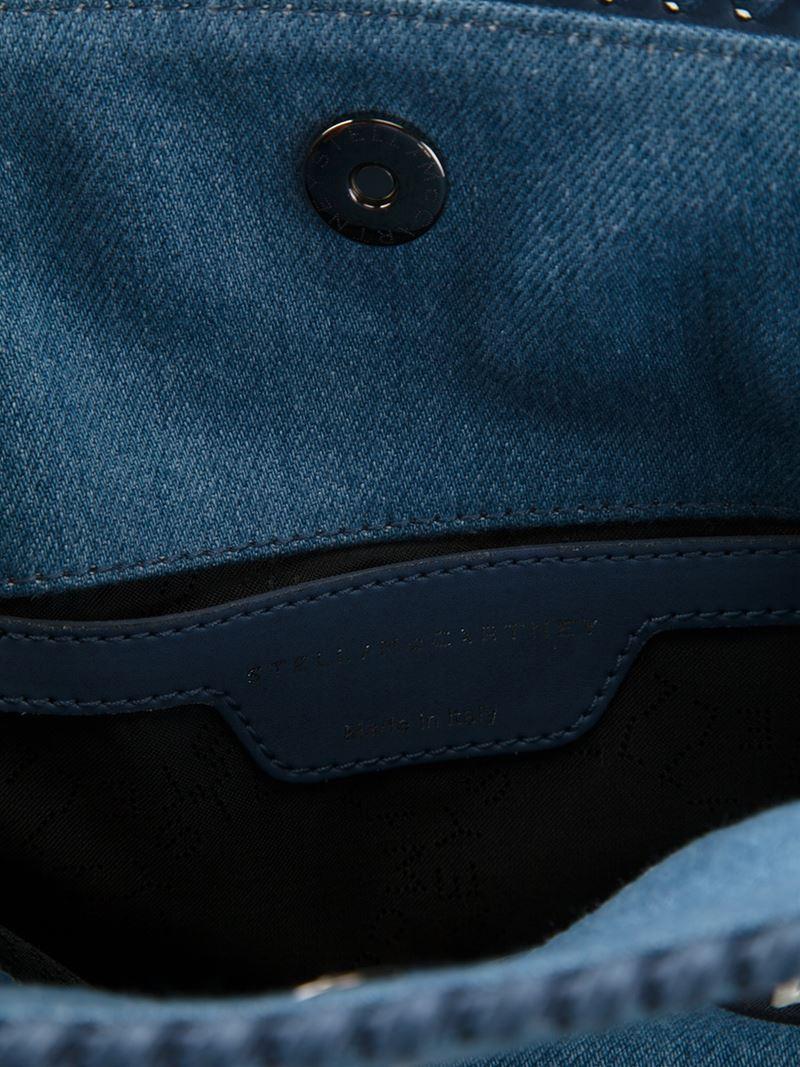 Stella McCartney Falabella Zigarette Tote in Blue