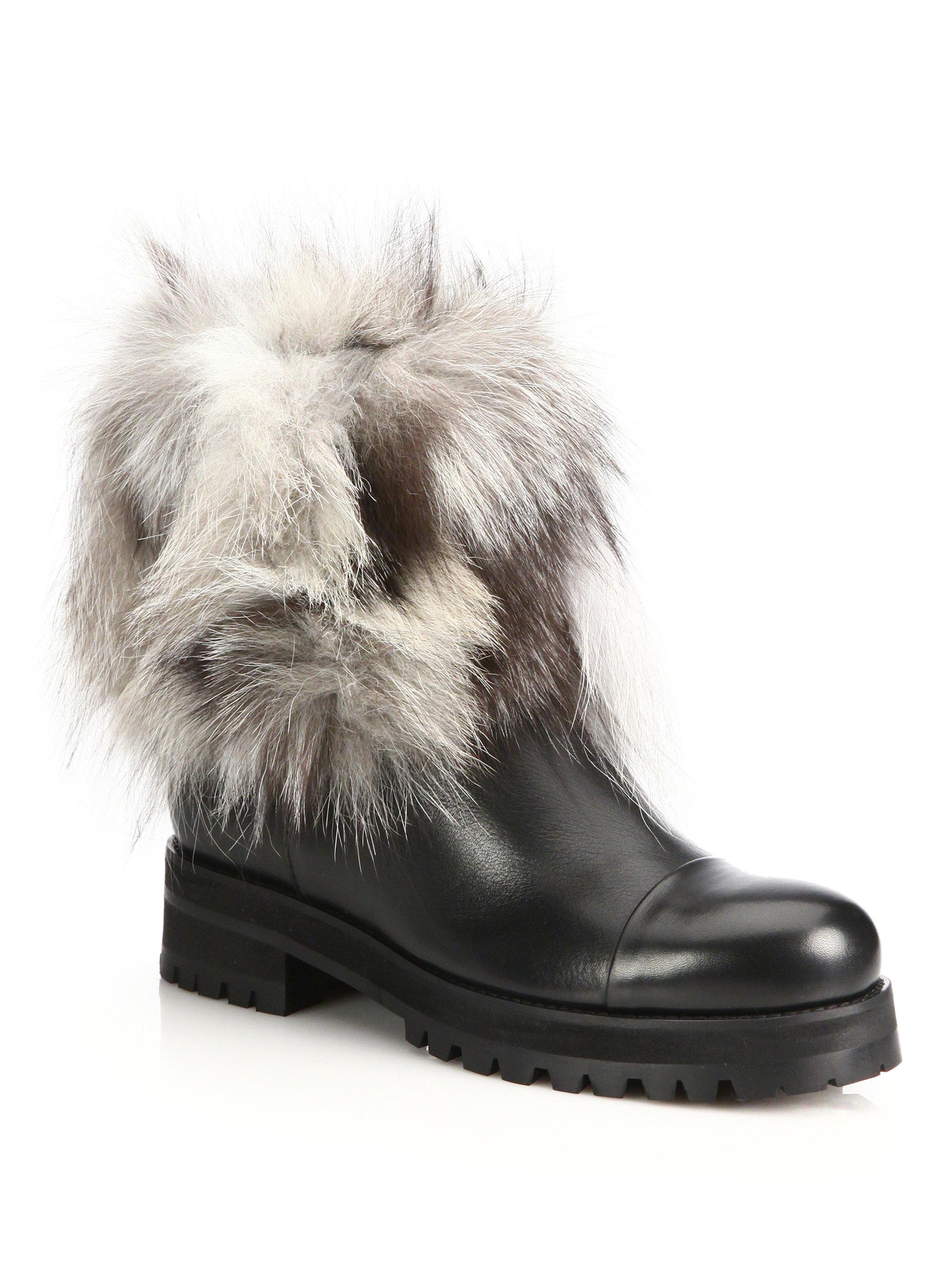 Jimmy Choo Dana Leather \u0026 Fox Fur
