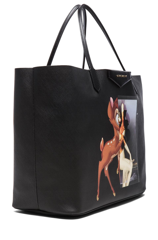 Givenchy Antigona Bambi Coated Canvas Tote In Black Multi