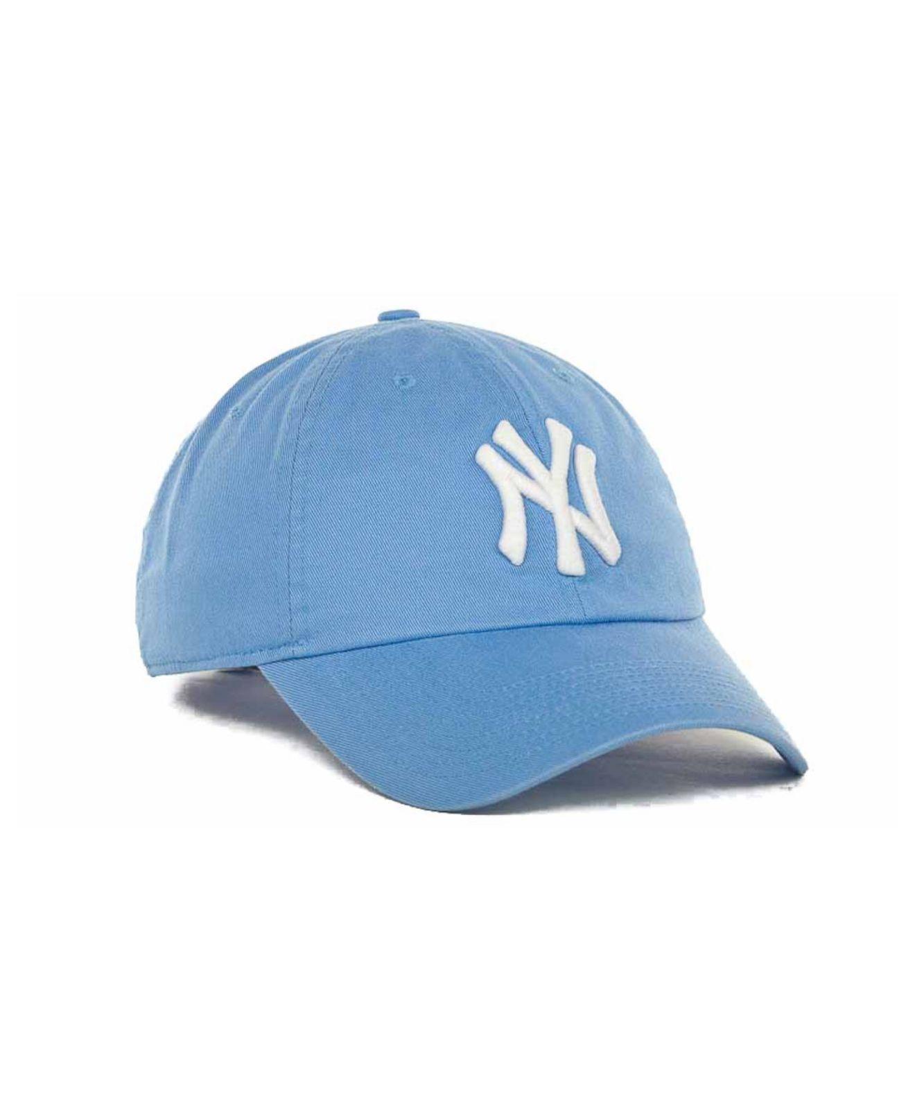750efcb5fe80a6 ... promo code for lyst nike womens new york yankees stadium cap in blue  77314 f8a3c