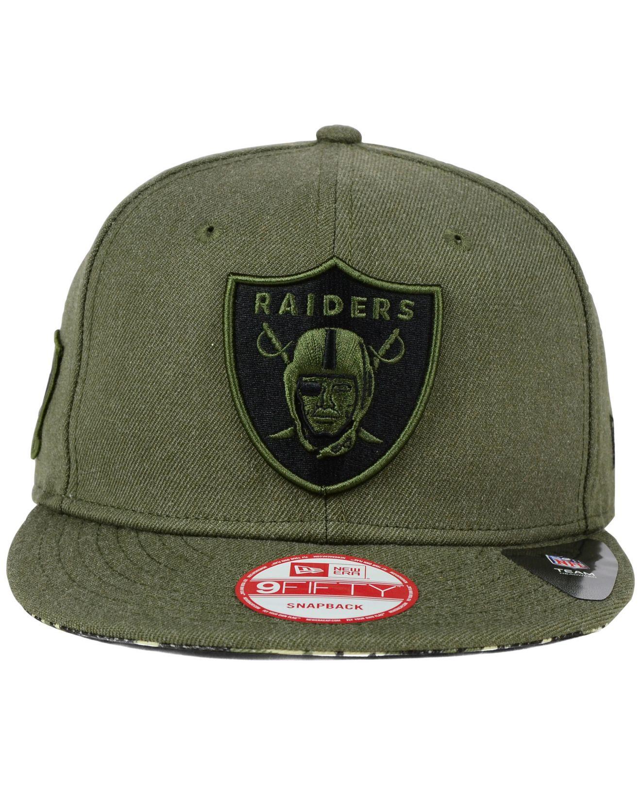 2500a63b9853a4 ... hat fba27 c95da new style lyst ktz oakland raiders camo 9fifty snapback  cap in green for men e561c 91fb7 ...