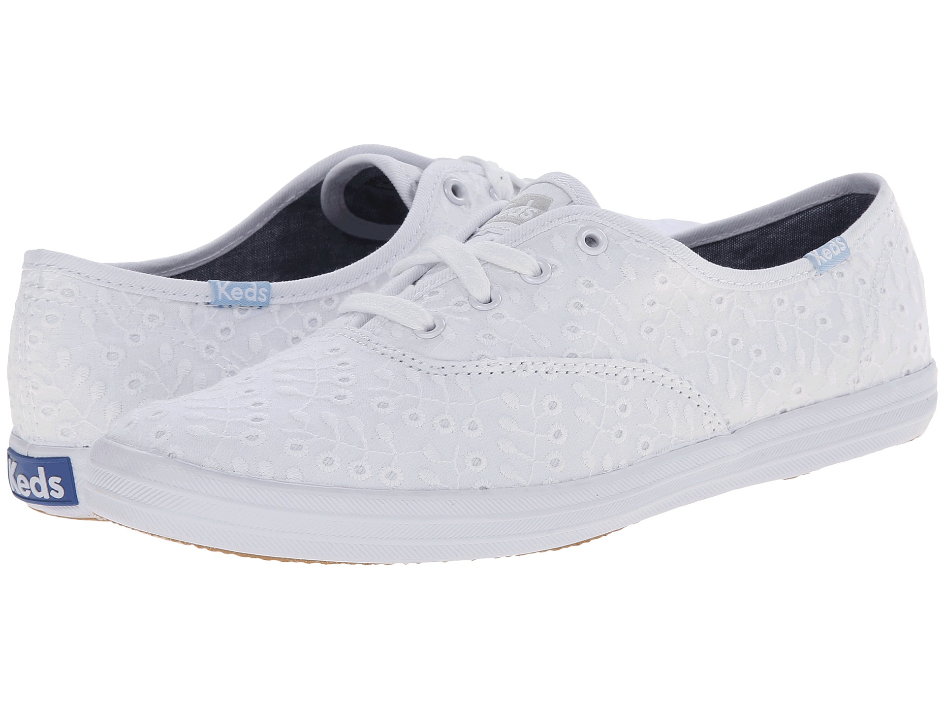 5f7804ee50 Keds Champion Eyelet Seasonal Solid in White - Lyst