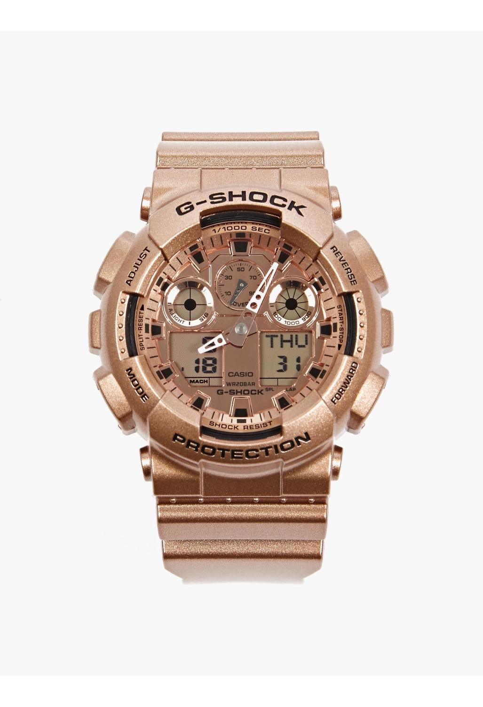 casio g shock men 39 s rose gold ga 110gd 9aer watch in brown. Black Bedroom Furniture Sets. Home Design Ideas
