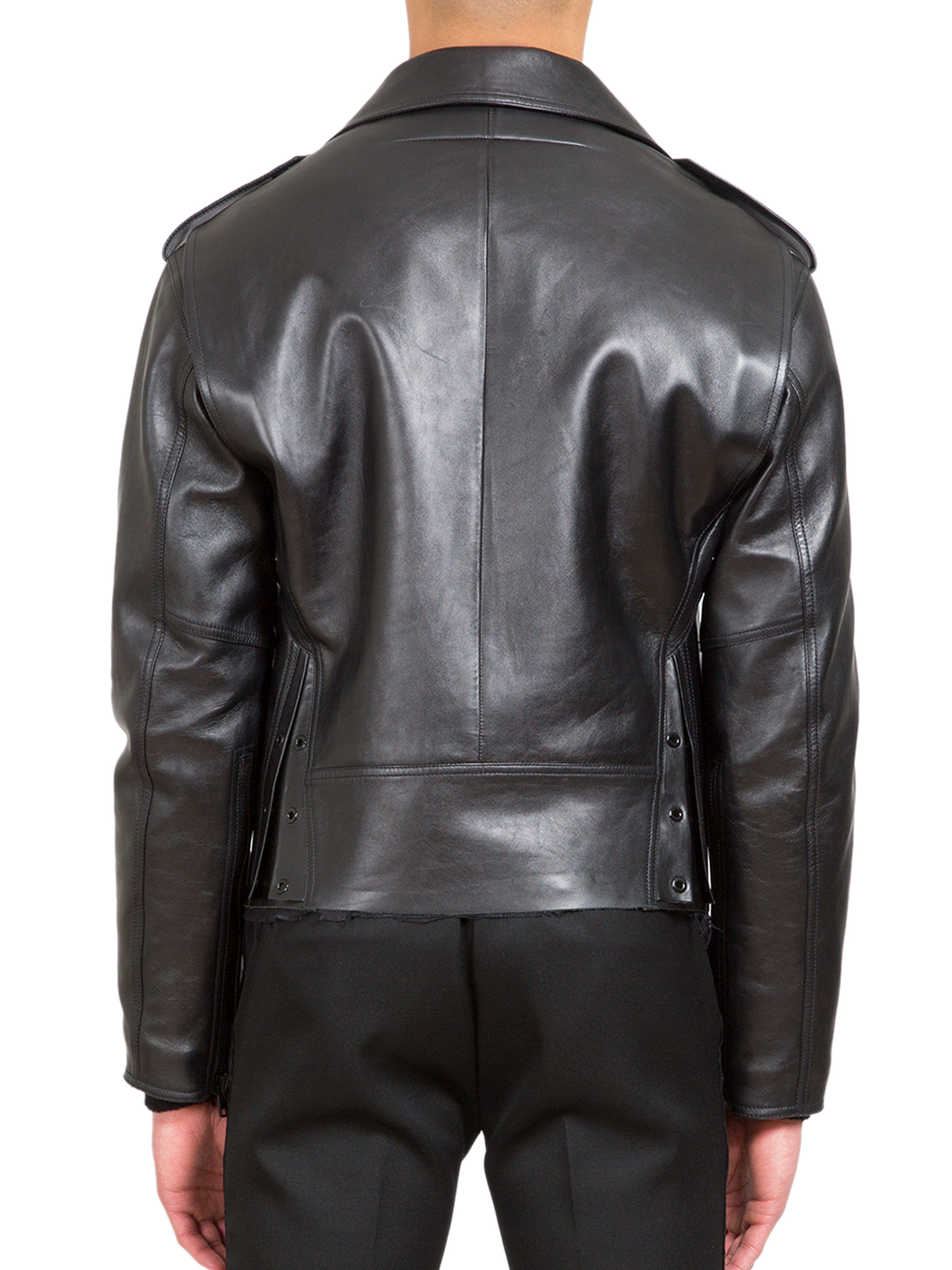 Givenchy Leather Moto Jacket In Black For Men Lyst