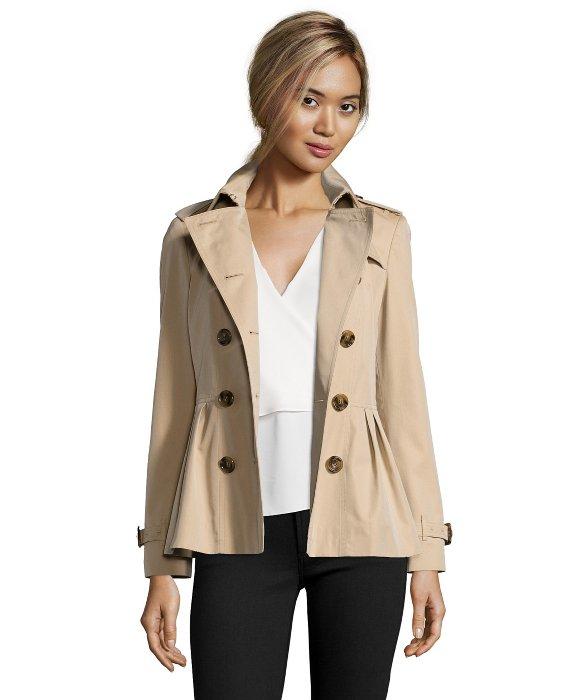 Short trench coat beige