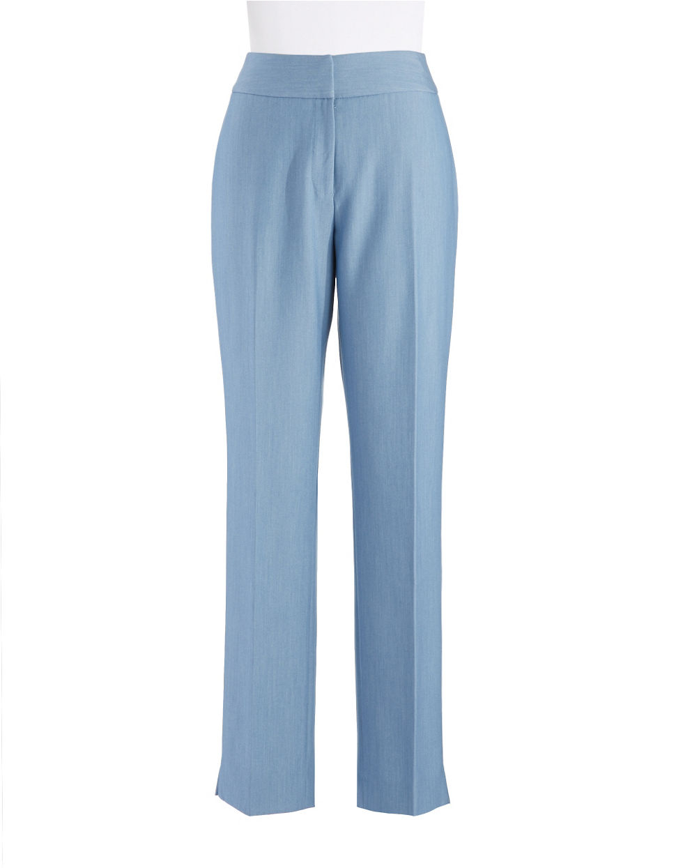 Tahari by arthur s levine chambray pants in blue light for Chambray jeans
