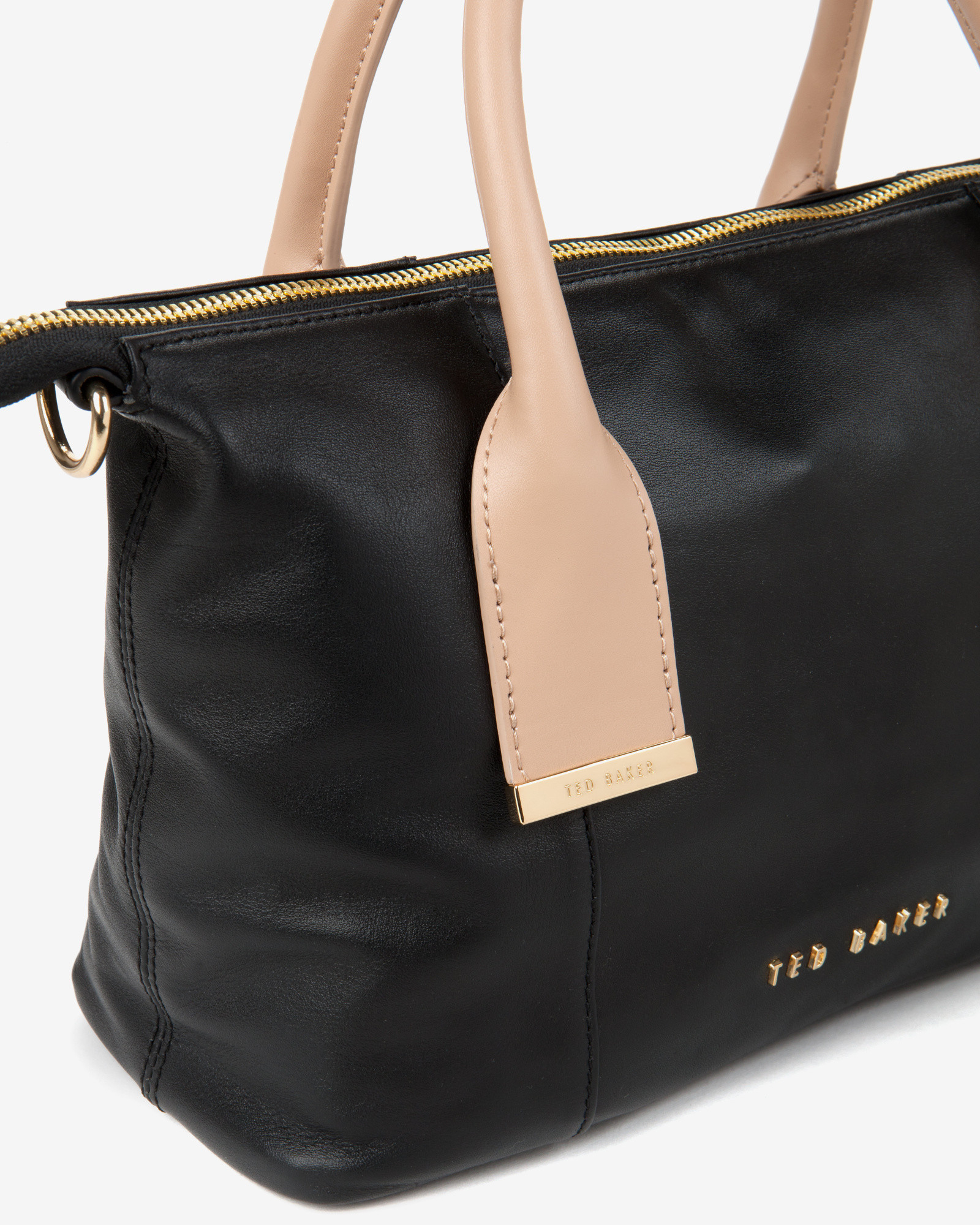 16505c8cf Ted Baker Leather Mini Tote Bag in Black - Lyst