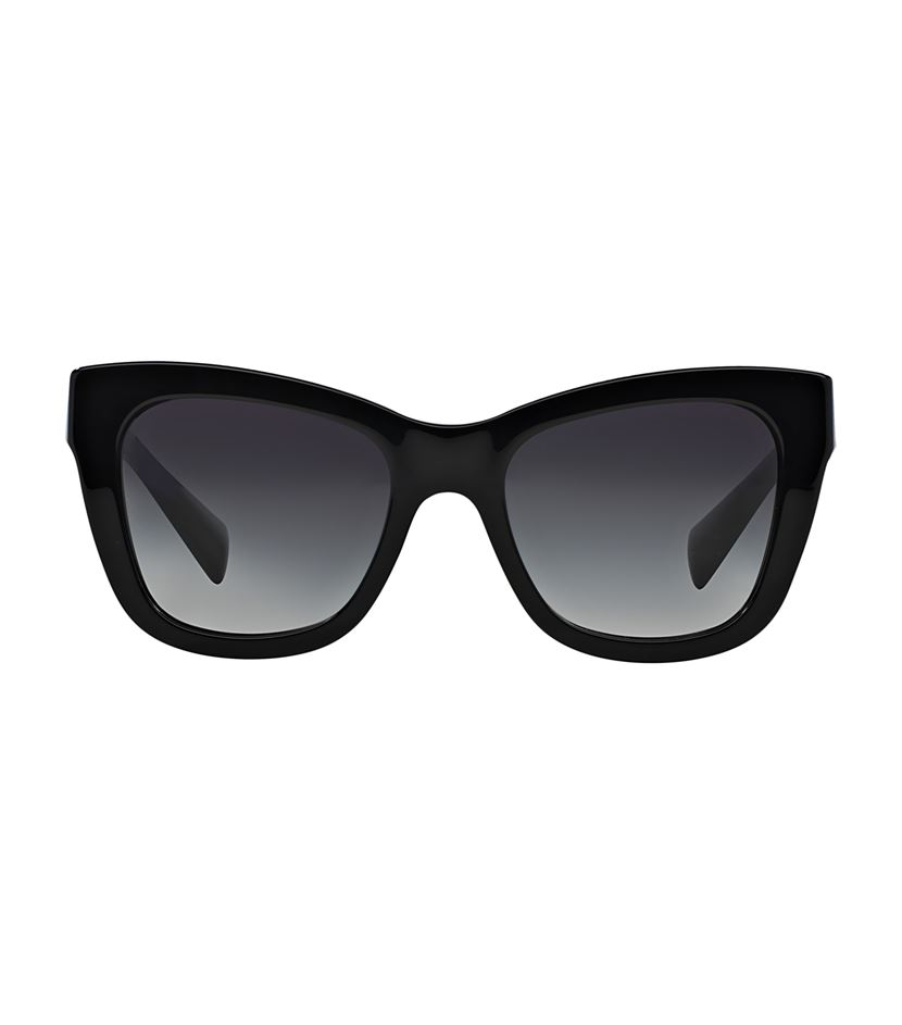 69f5eb7f78d3 Dolce   gabbana Square Frame Floral Plaque Sunglasses in Black