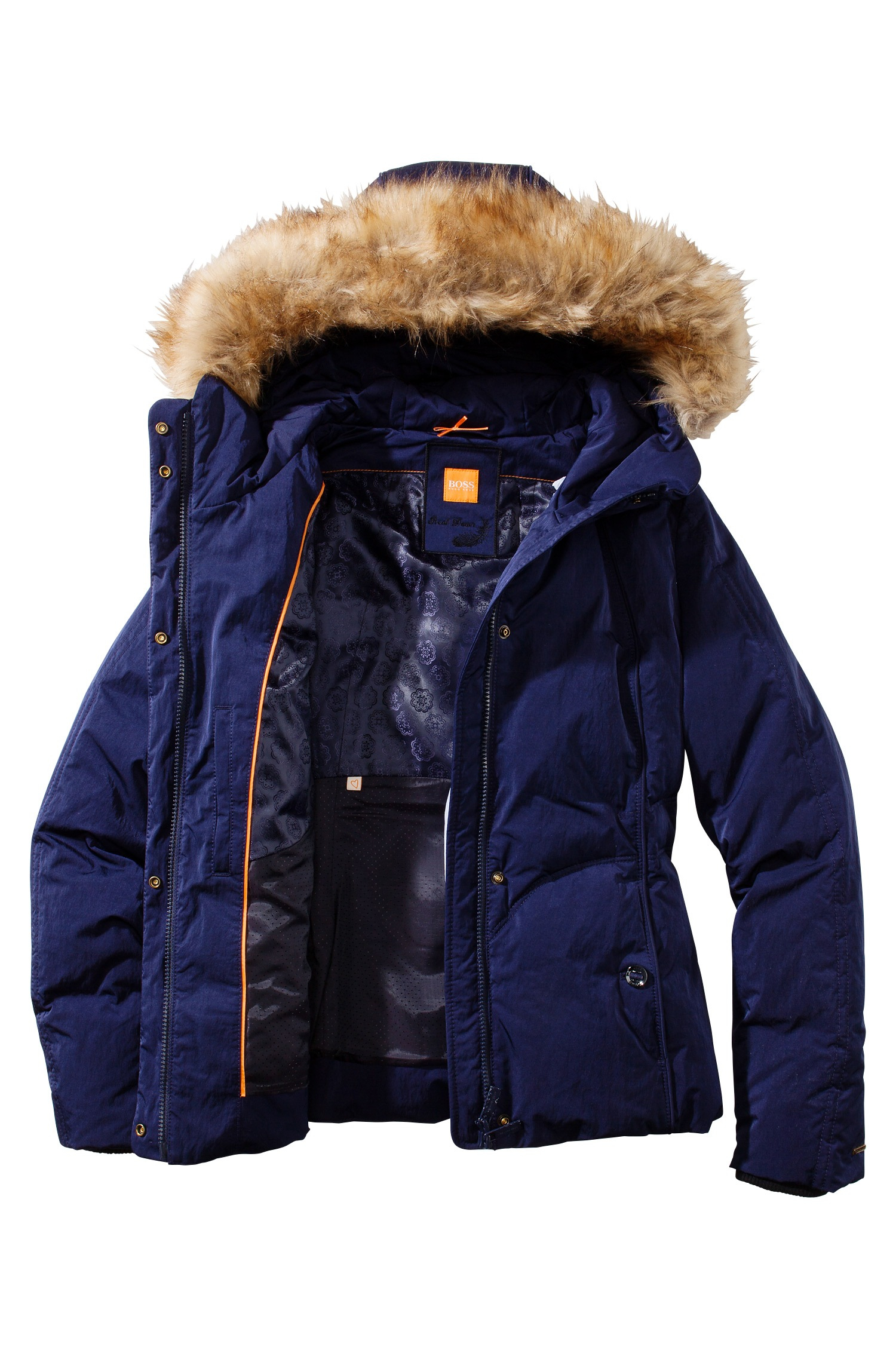 Boss orange Down Jacket 'Odorella' With A Detachable Hood in Blue ...