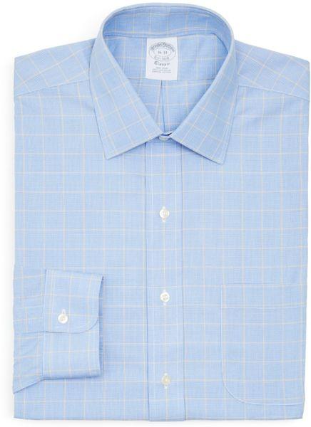 Brooks brothers multi check non iron dress shirt regent for Brooks brothers dress shirt fit guide