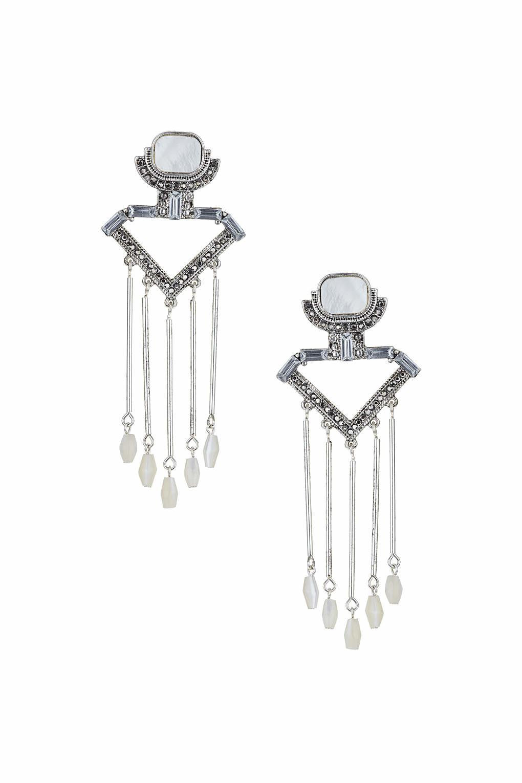 bb30d0971 Lyst - TOPSHOP Mother Of Pearl Stick Drop Earrings in Metallic