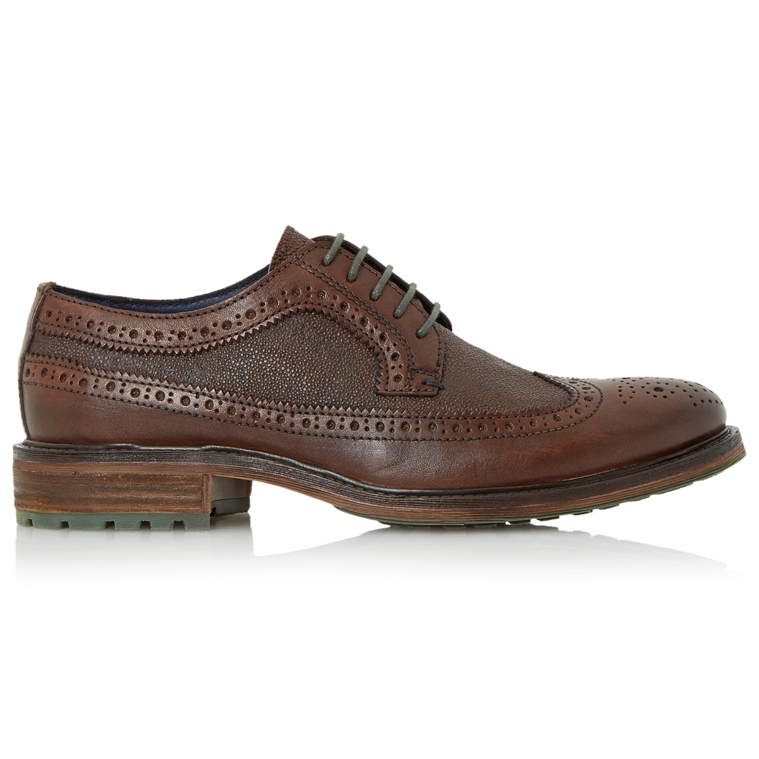 Dune Bongo Chunky Sole Leather Brogues in Brown for Men