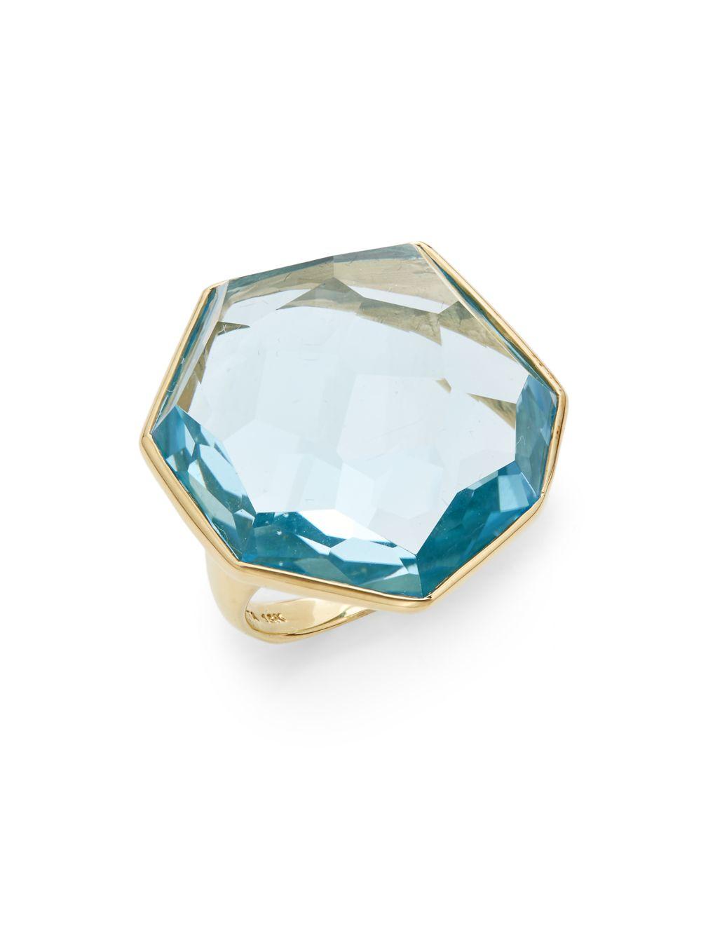 ippolita rock blue topaz 18k yellow gold ring in