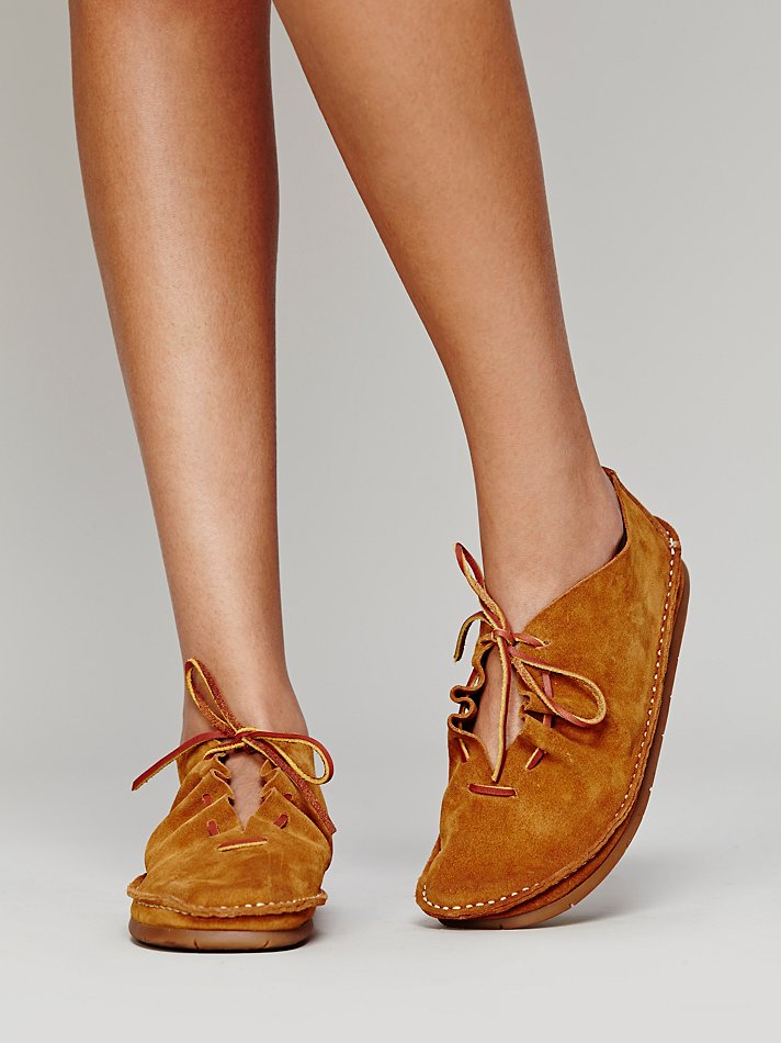 Lyst Free People Jan Van Moccasin In Brown