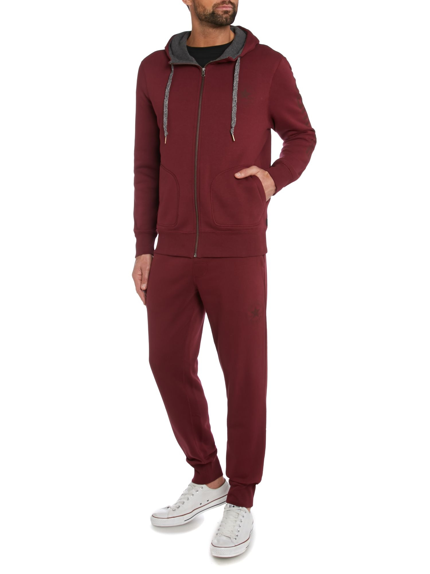 Converse Tracksuit Bottoms in Burgundy (Purple) for Men