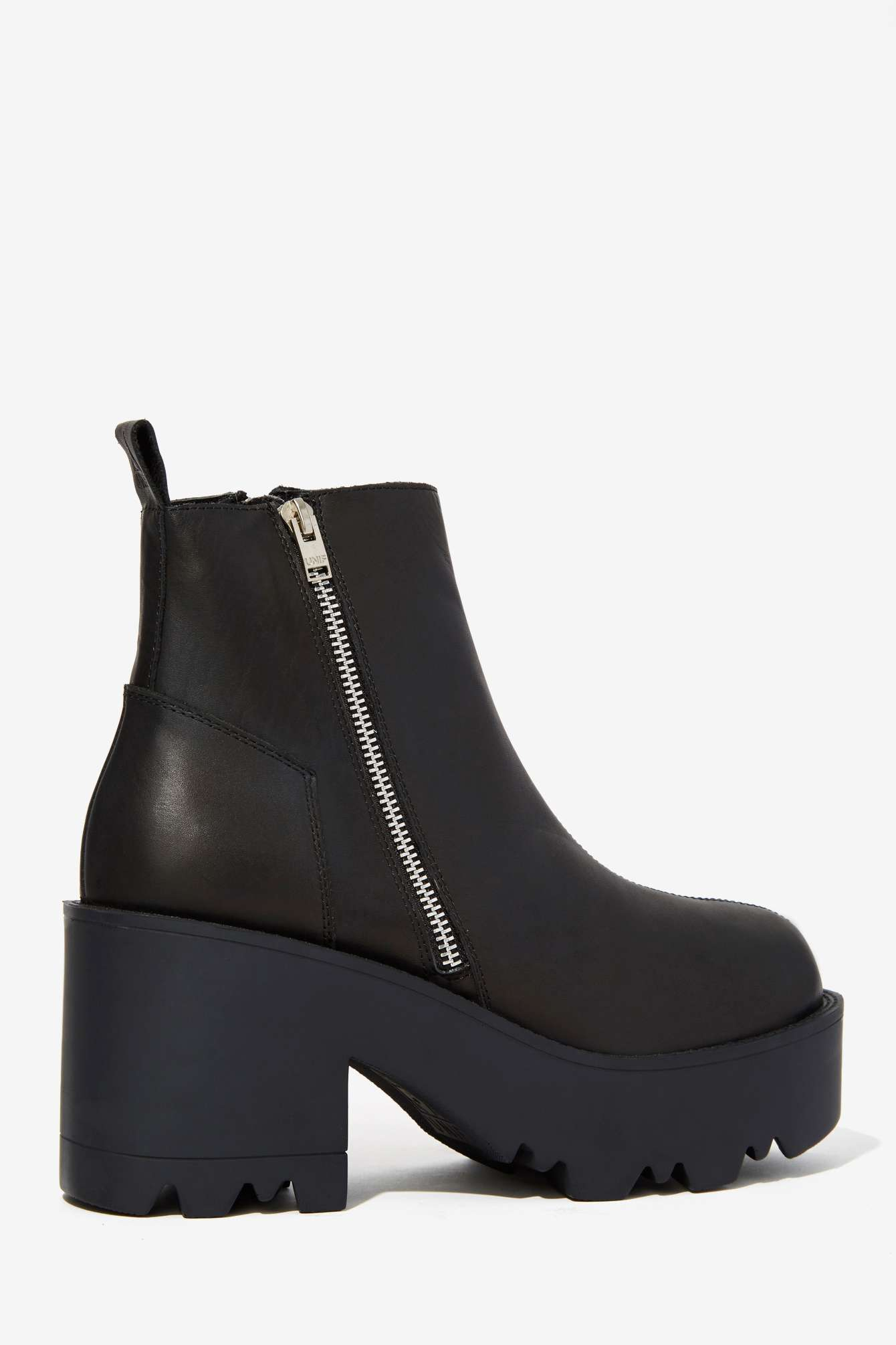 UNIF Rival Leather Platform Boot in