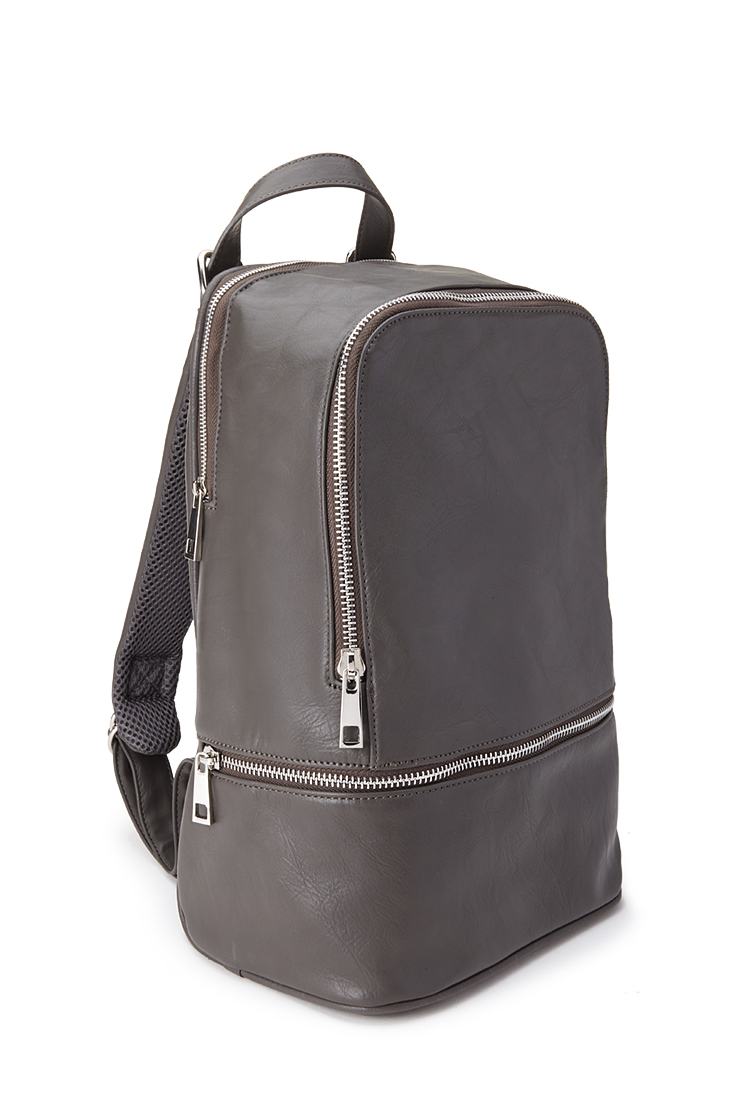 Forever 21 Mini Faux Leather Backpack in Gray | Lyst