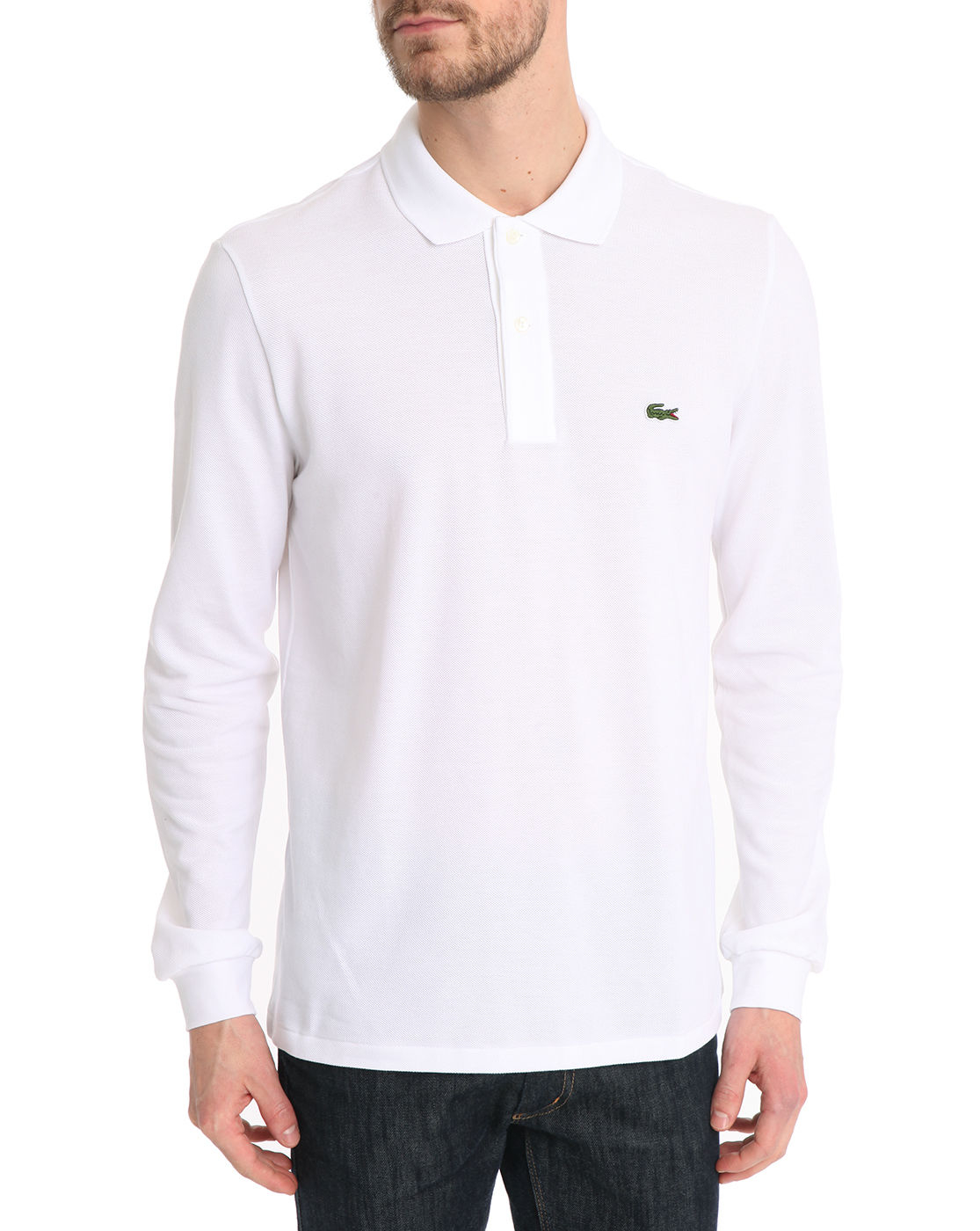 lacoste white l1312 ml polo shirt in white for men lyst. Black Bedroom Furniture Sets. Home Design Ideas