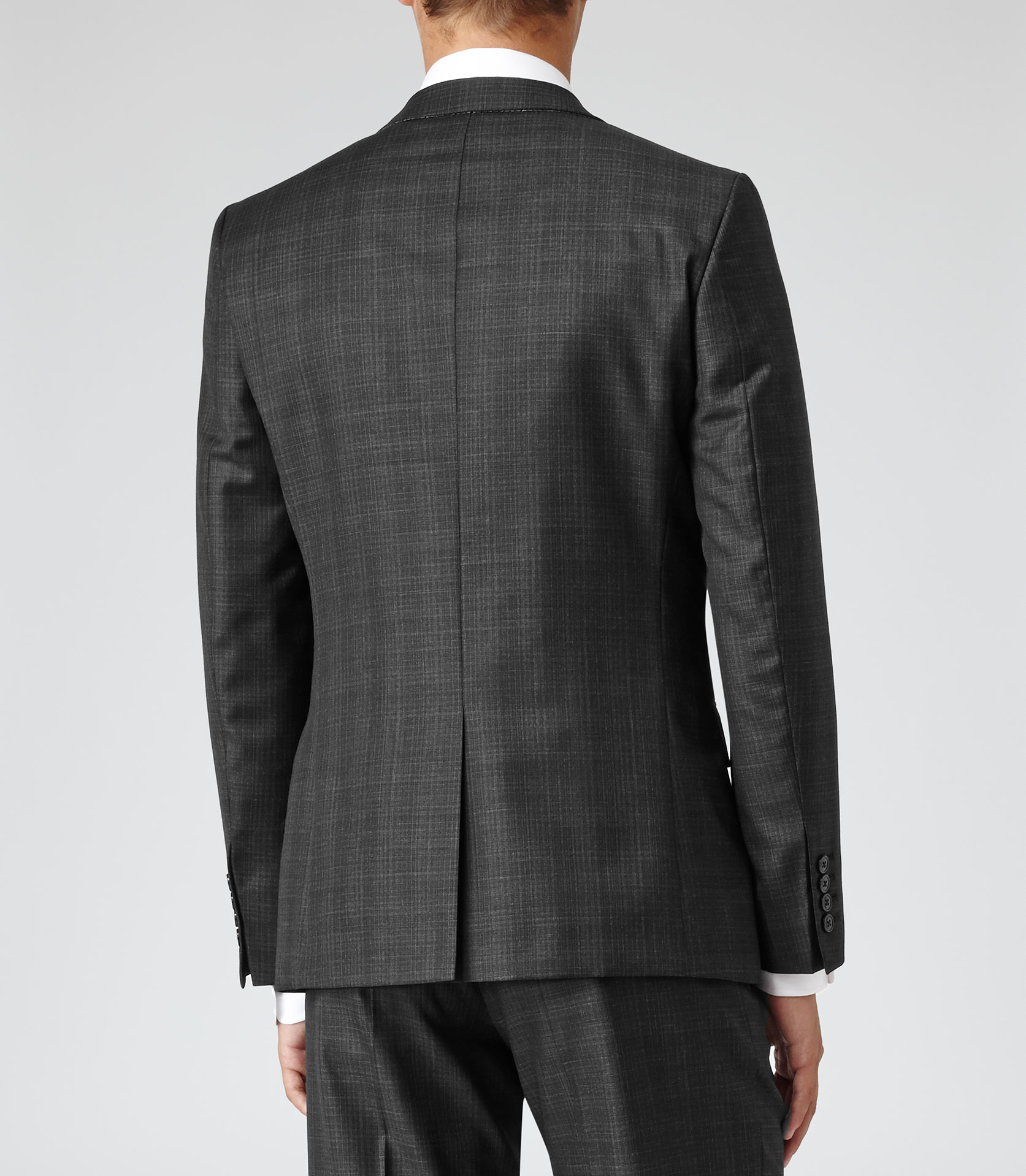 Reiss Gilstone B Check Blazer in Charcoal (Grey) for Men