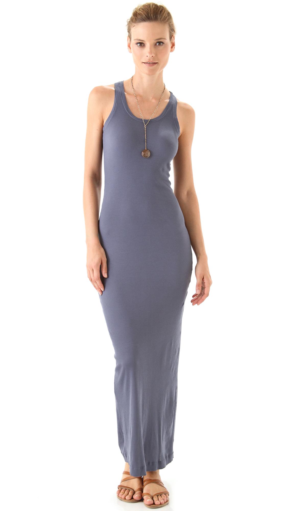 splendid u neck maxi dress in petite