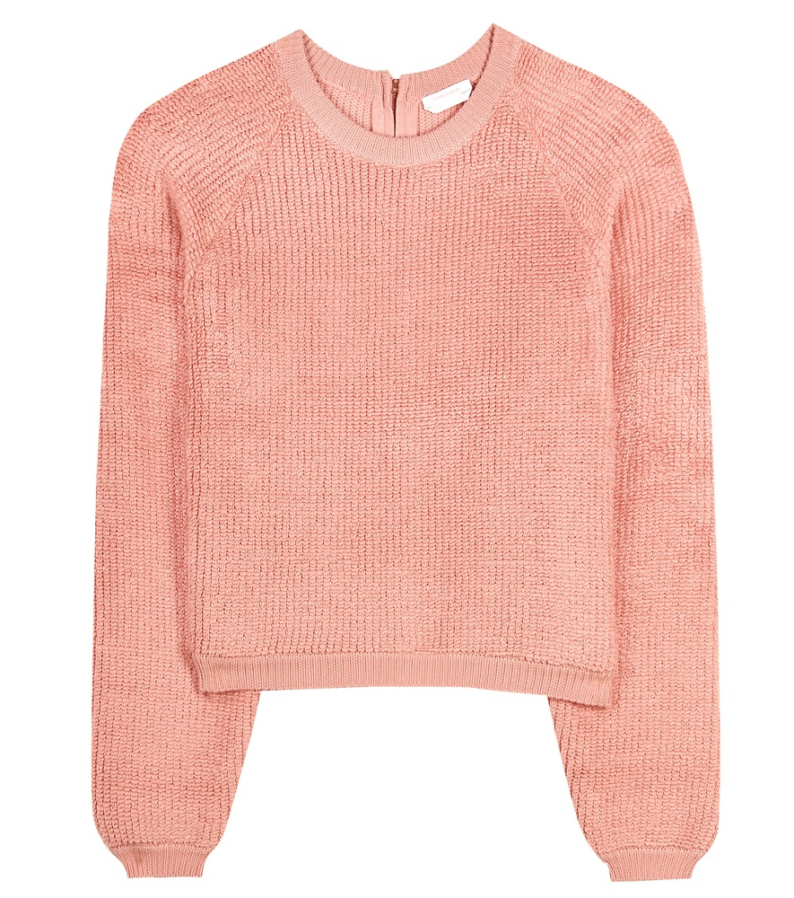 See by chloé Cotton Sweater in Pink | Lyst