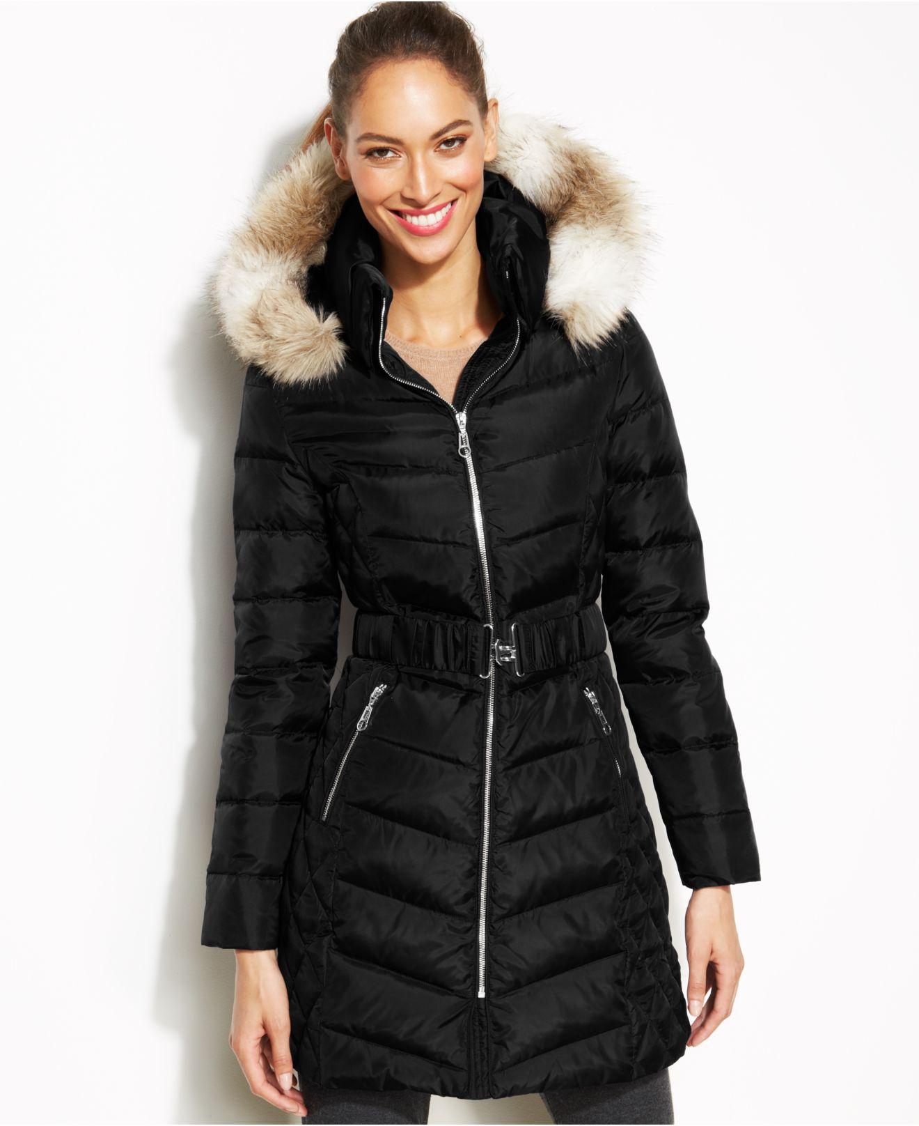 Belted Down Coat Han Coats