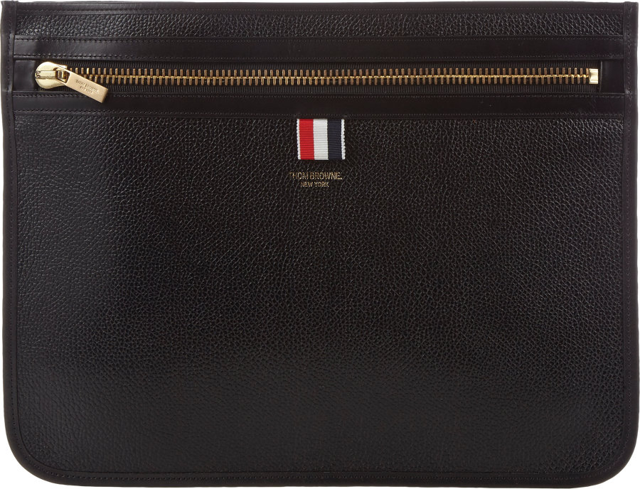 a44697805d Thom Browne Document Pouch in Black for Men - Lyst