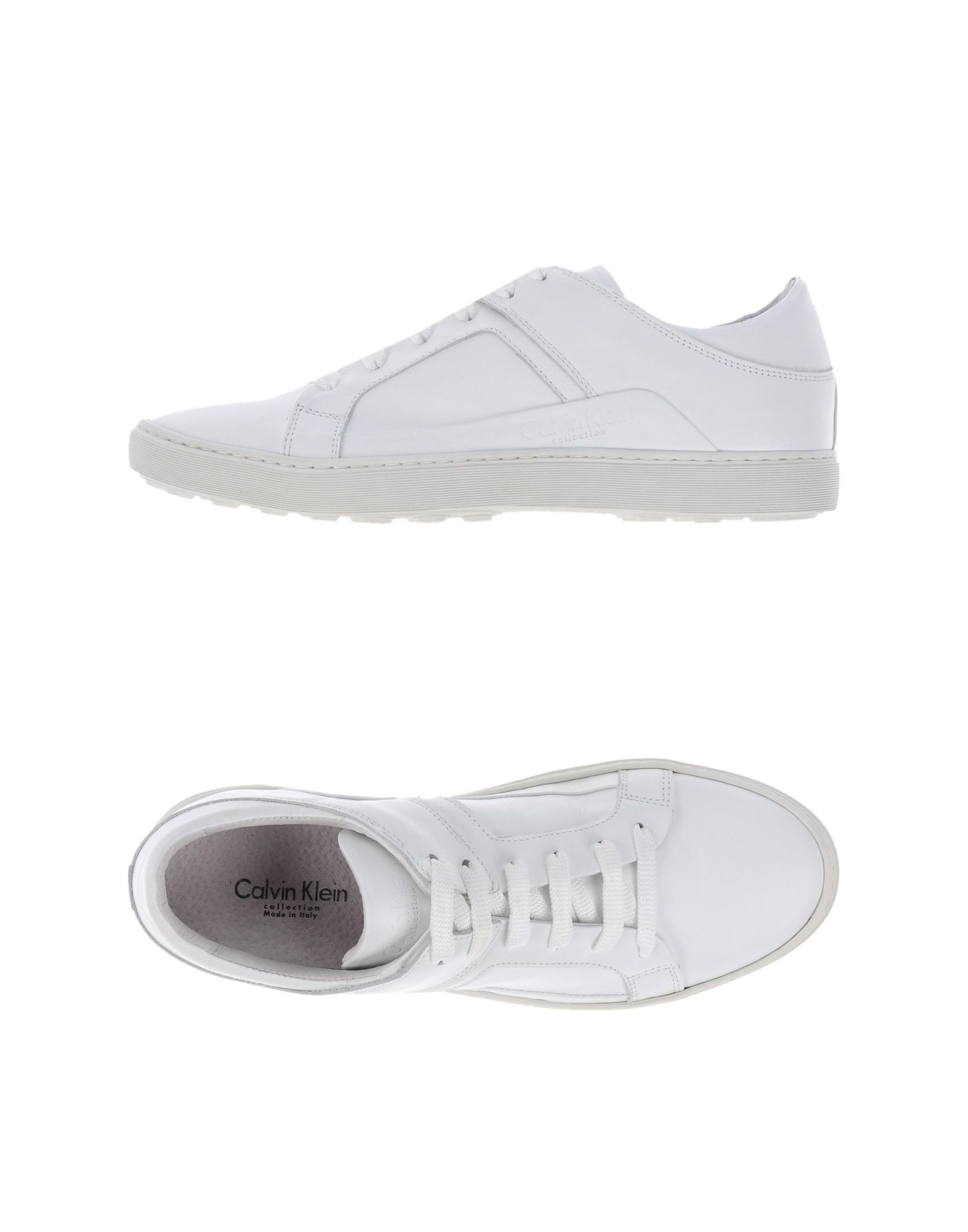 calvin klein low tops trainers in white for men lyst. Black Bedroom Furniture Sets. Home Design Ideas