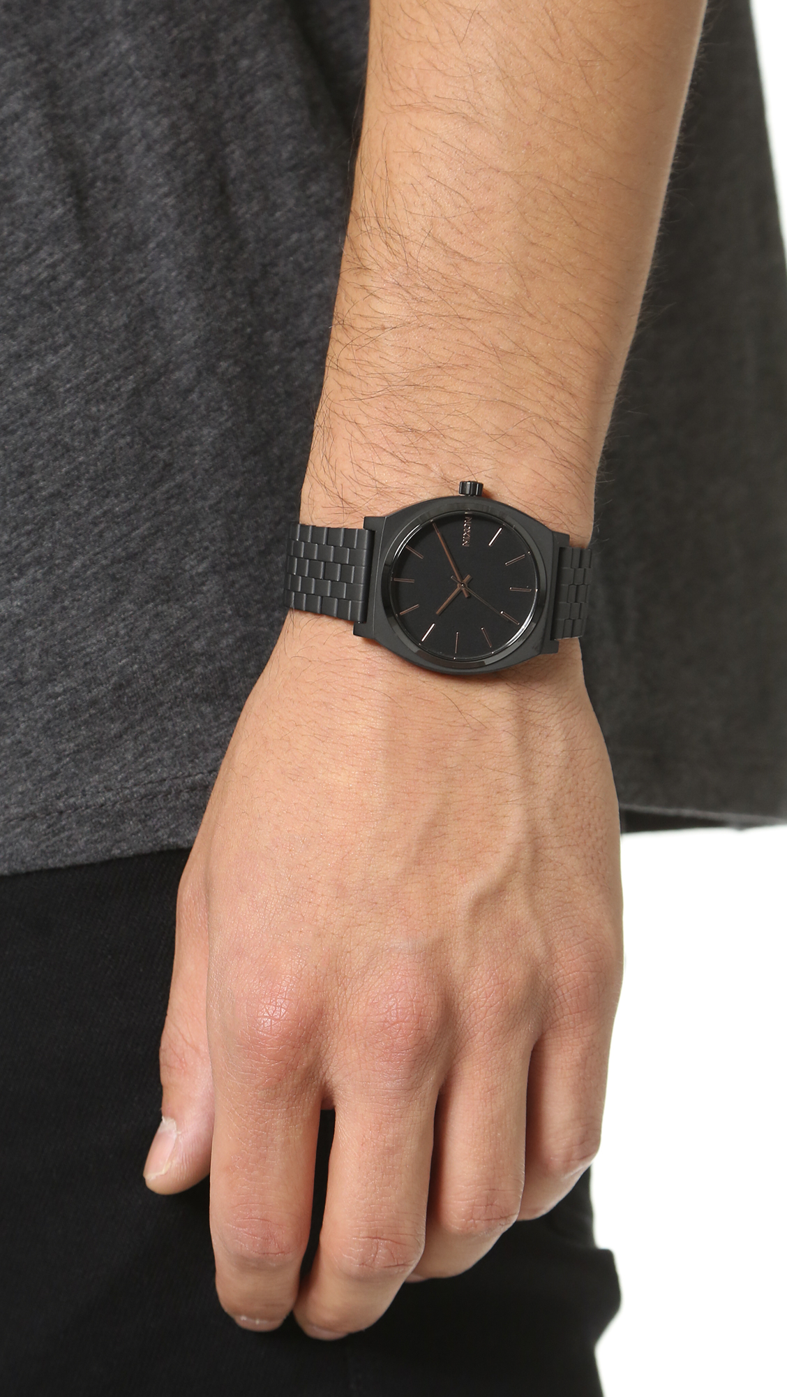 Nixon Time Teller Watch In Black For Men Lyst