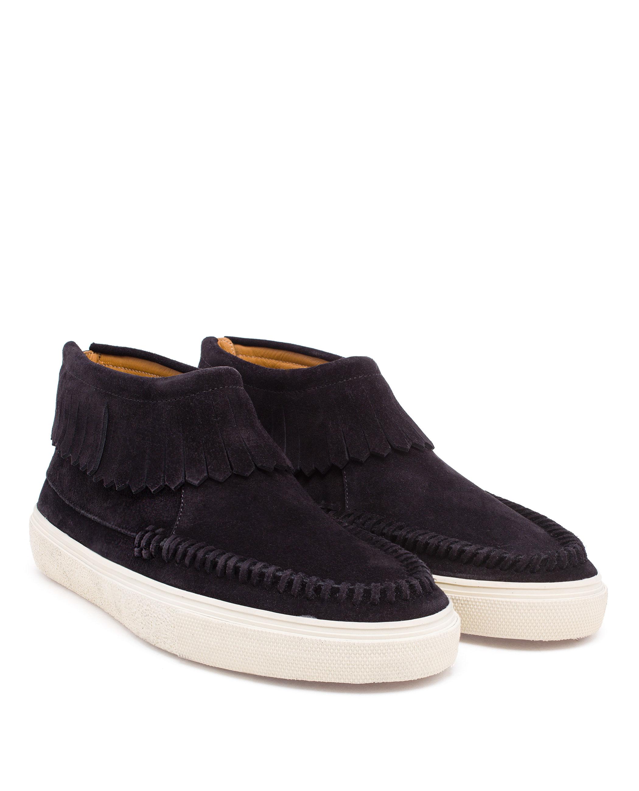 laurent suede desert boots in black lyst