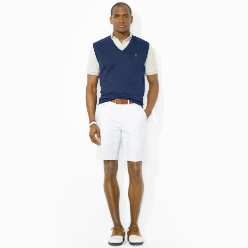 Polo ralph lauren V-Neck Sweater Vest in Blue for Men | Lyst