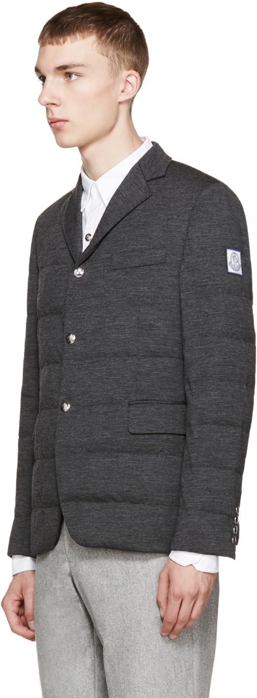 moncler gamme bleu quilted blazer